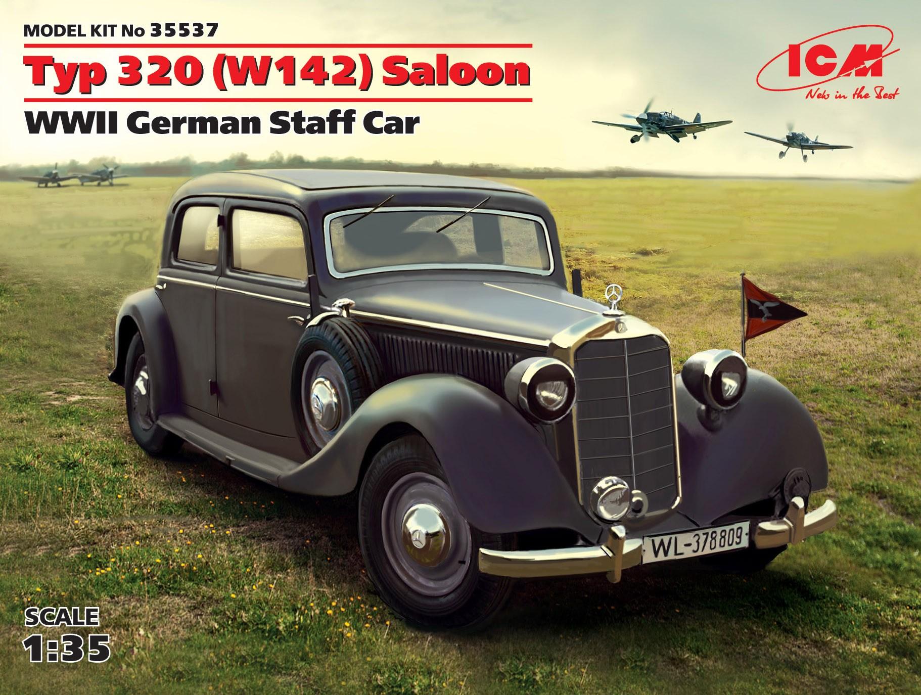 ICM Typ 320 (W142) Saloon, WWII German Staff Car