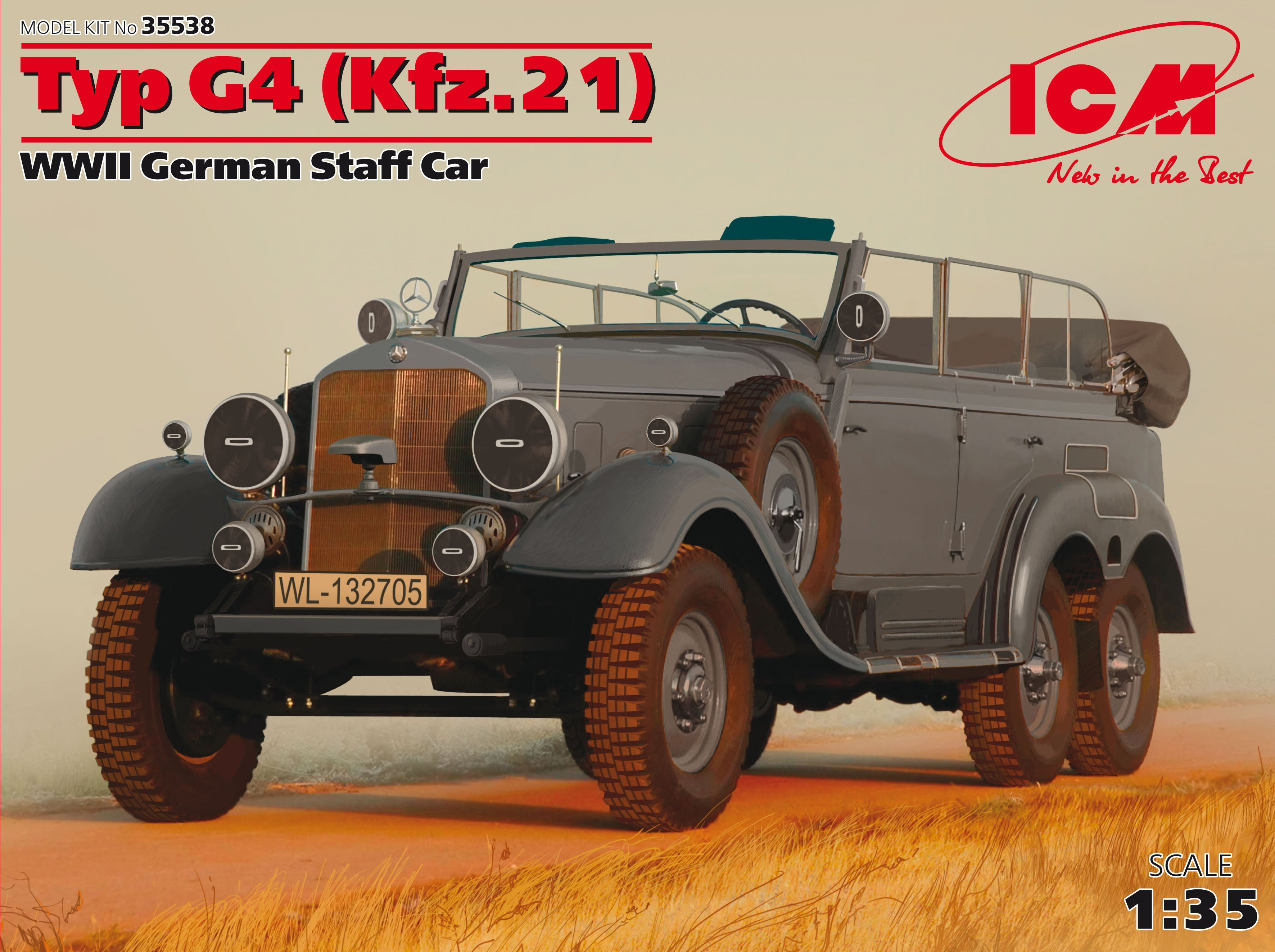 ICM Typ G4 (Kfz.21), WWII German Staff Car