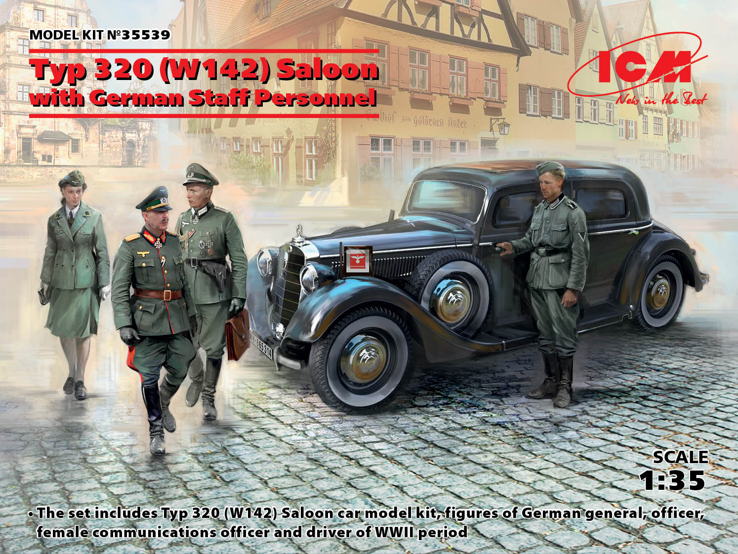 ICM Typ 320 (W142) Saloon with German Staff Personnel