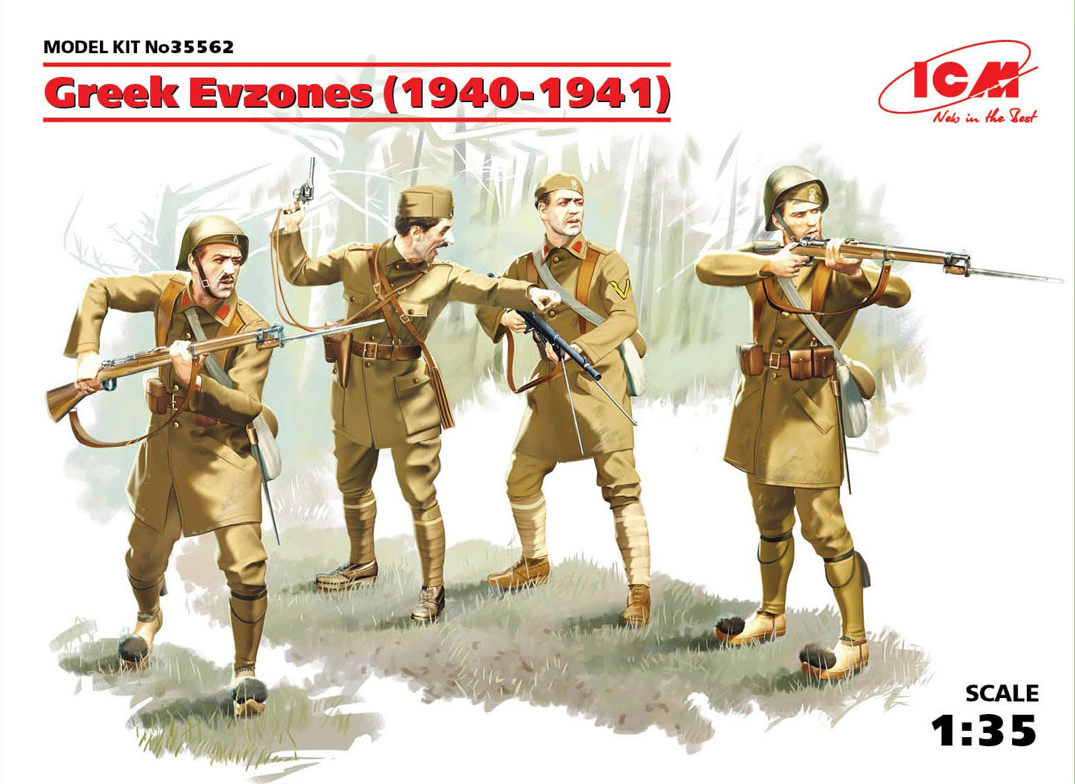 ICM Greek Evzones (1940-1941) (4 figures)