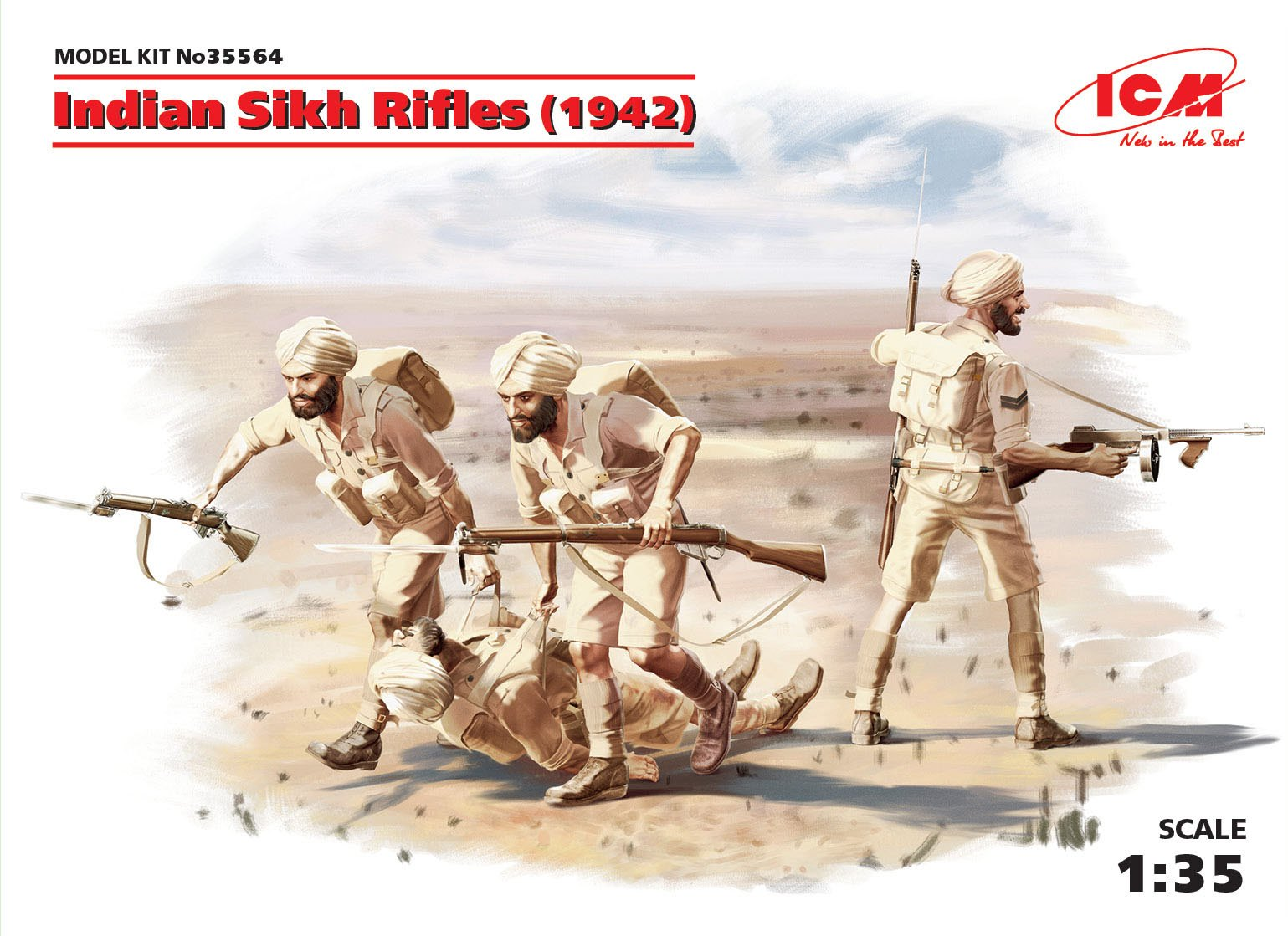 ICM Indian Sikh Rifles (1942) (4 figures)