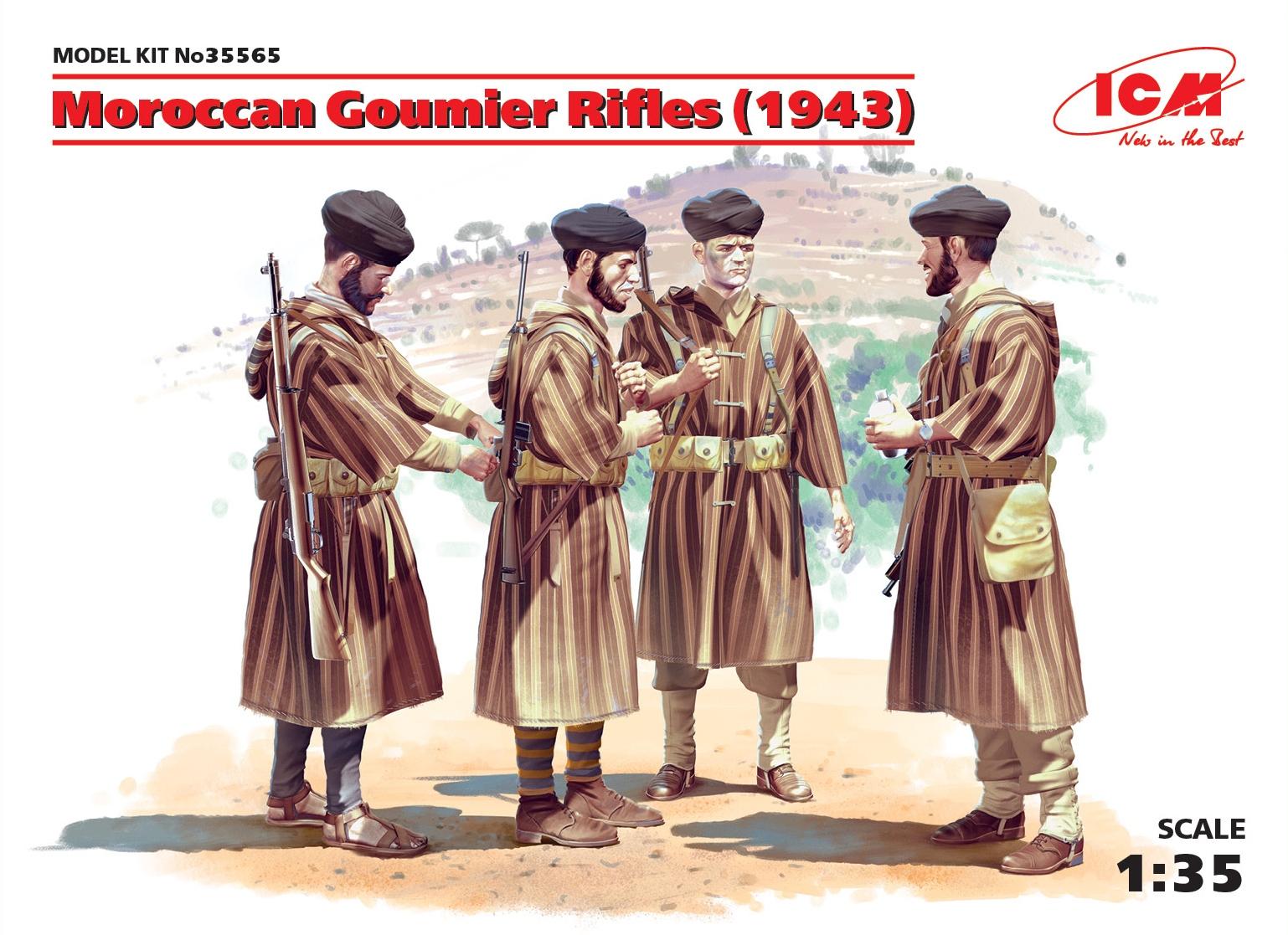 ICM Moroccan Goumier Rifles (1943) (4 figures)