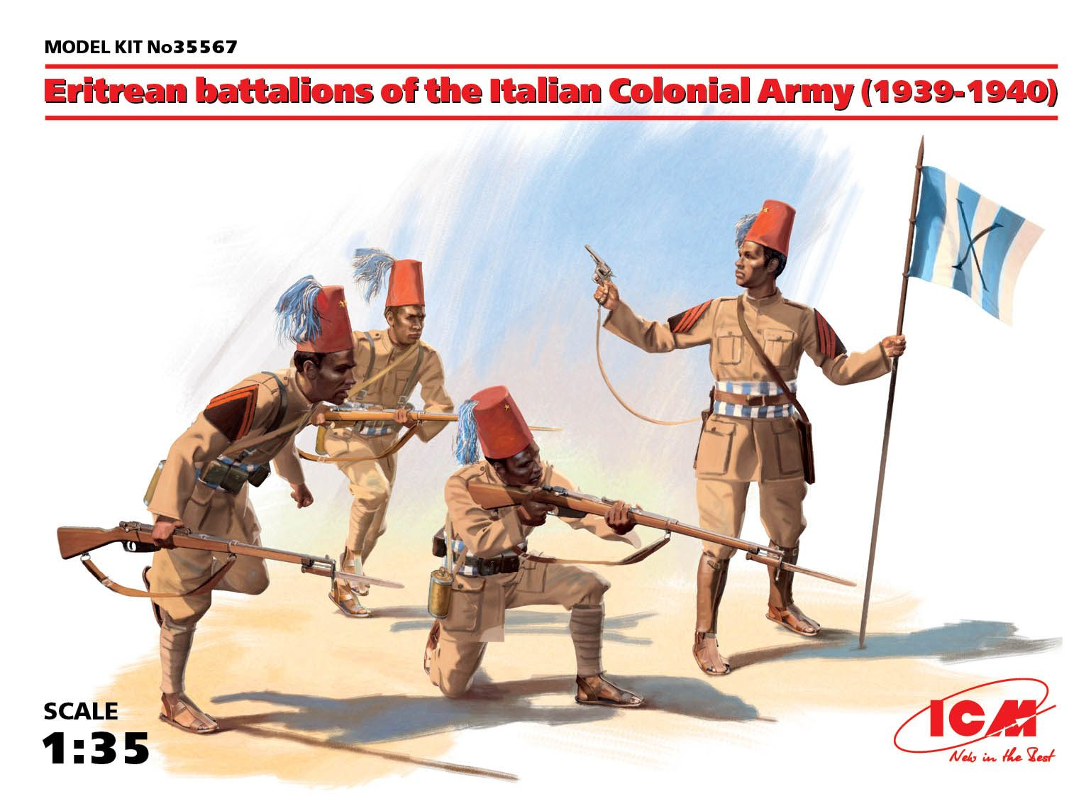 ICM Eritrean battalions of the Italian _olonial Army (1939-1940) (4 figures)