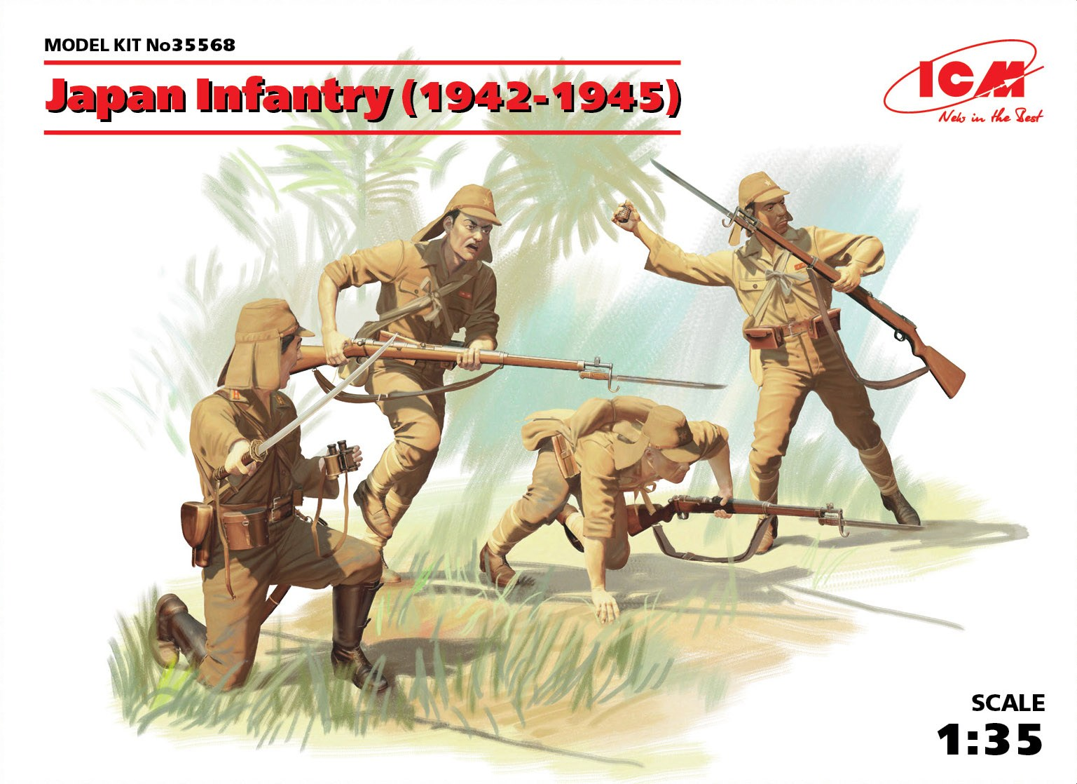ICM Japan Infantry (1942-1945) (4 figures)