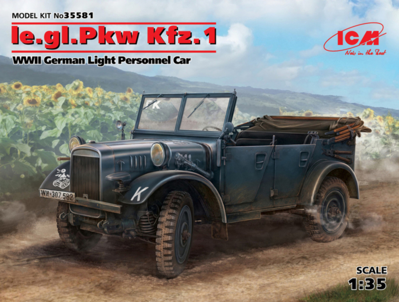 ICM le.gl.Pkw Kfz.1, WWII German Light Personnel Car