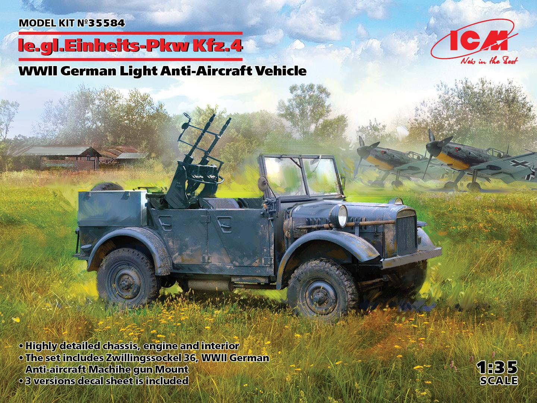 ICM 1/35 le.gl.Einheitz-Pkw Kfz.4, WWII German Light Anti-Aircraft Vehicle