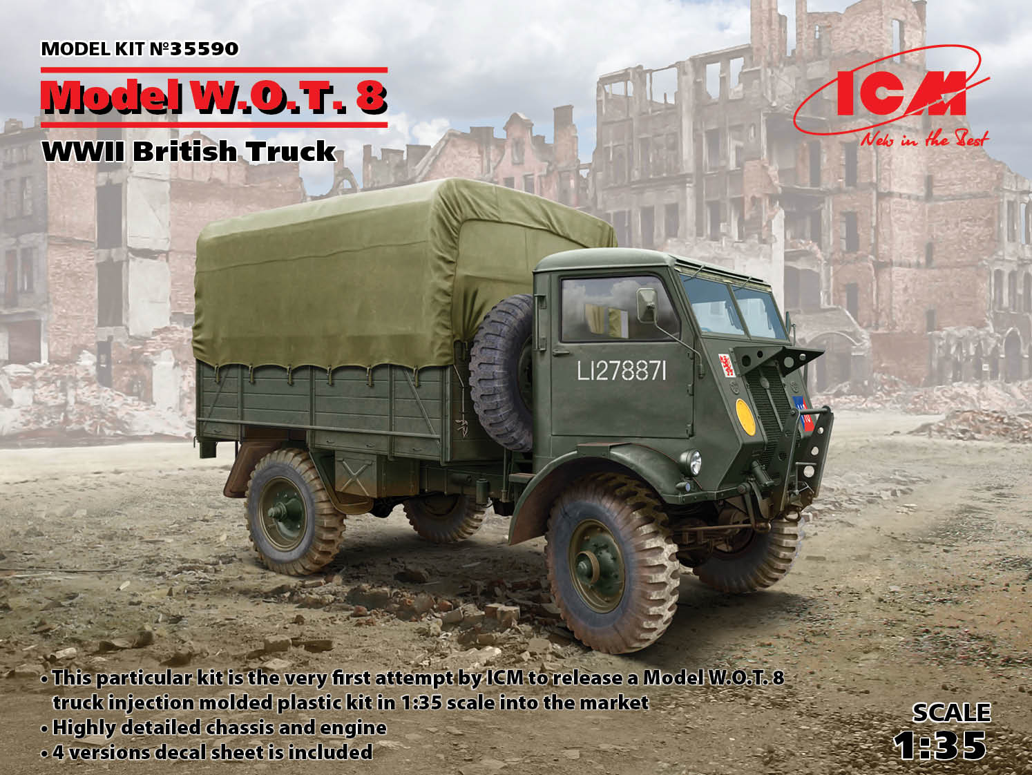 ICM Model W.O.T. 8, WWII British Truck