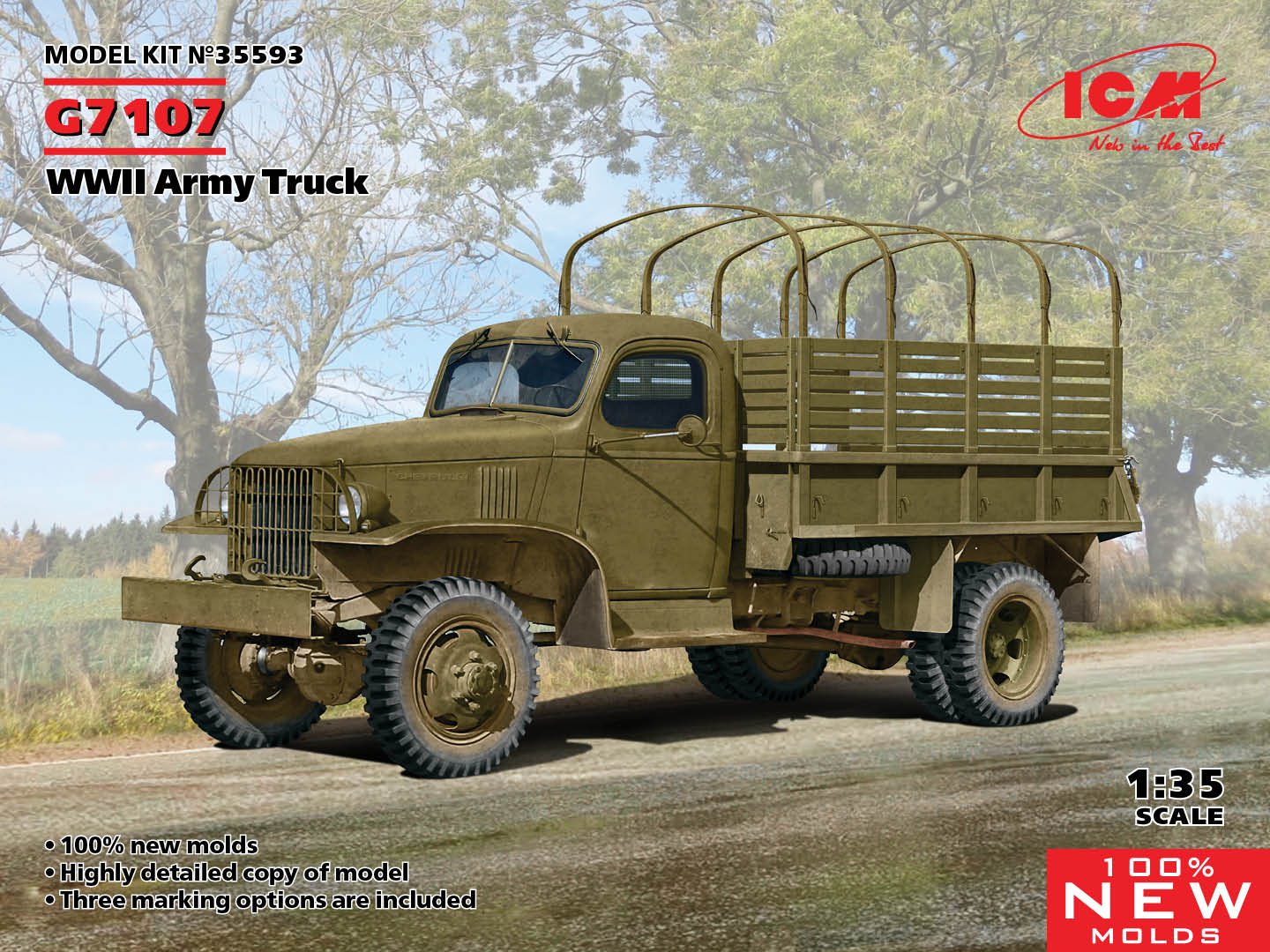 ICM 1/35 G7107, WWII Army Truck (100% new molds)