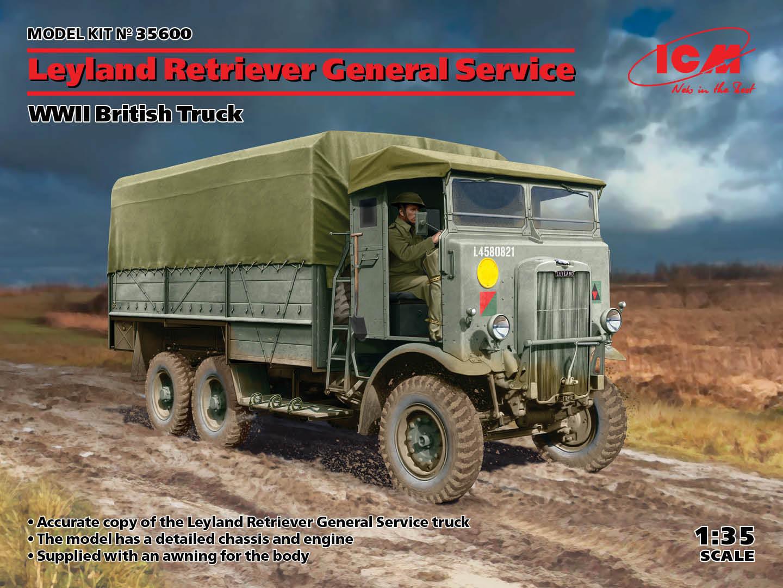 ICM 1/35 Leyland Retriever General Service, WWII British Truck (100% new molds)