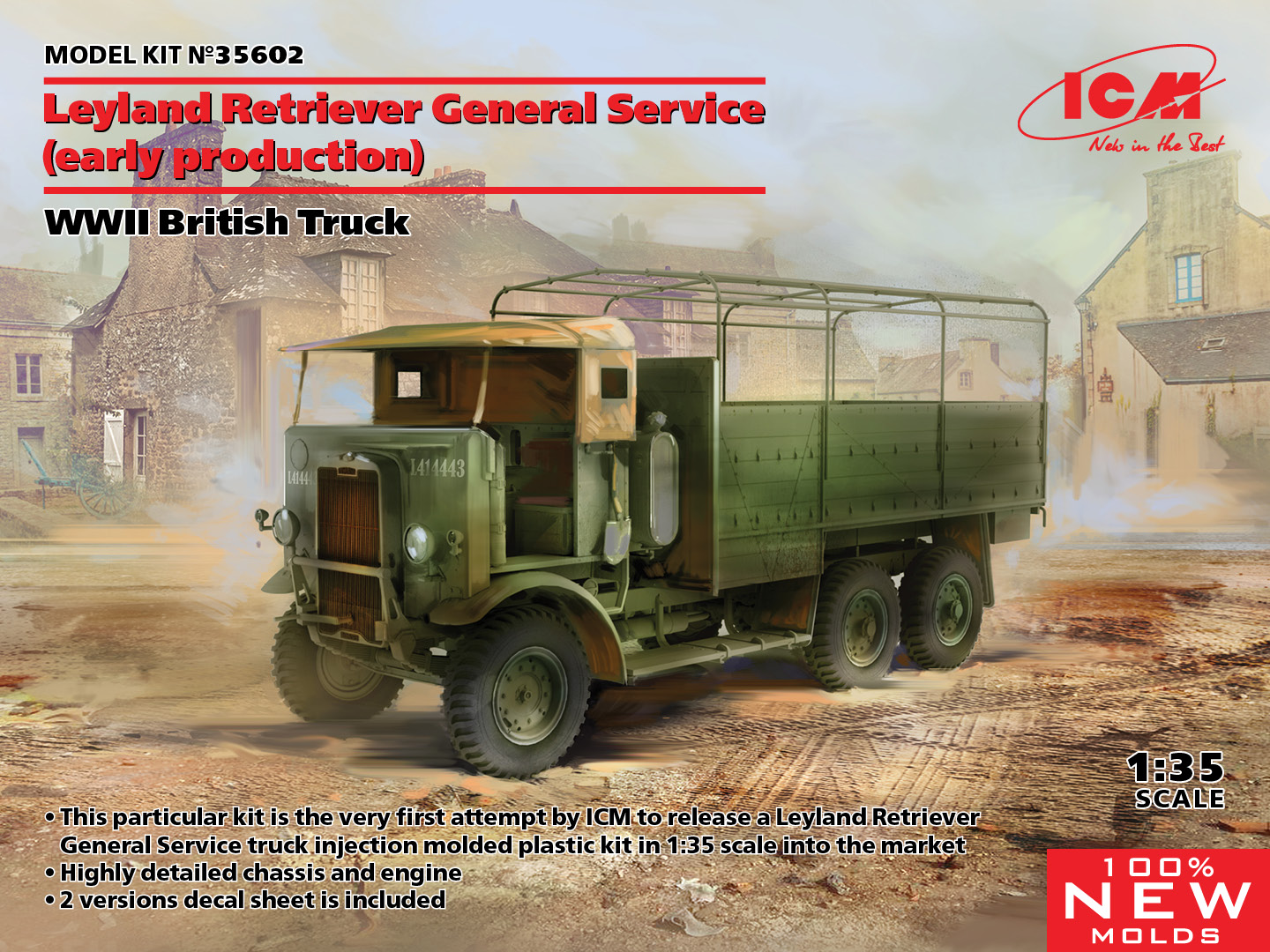 ICM 1/35 Leyland Retriever General Service Early Production - WWII British Truck