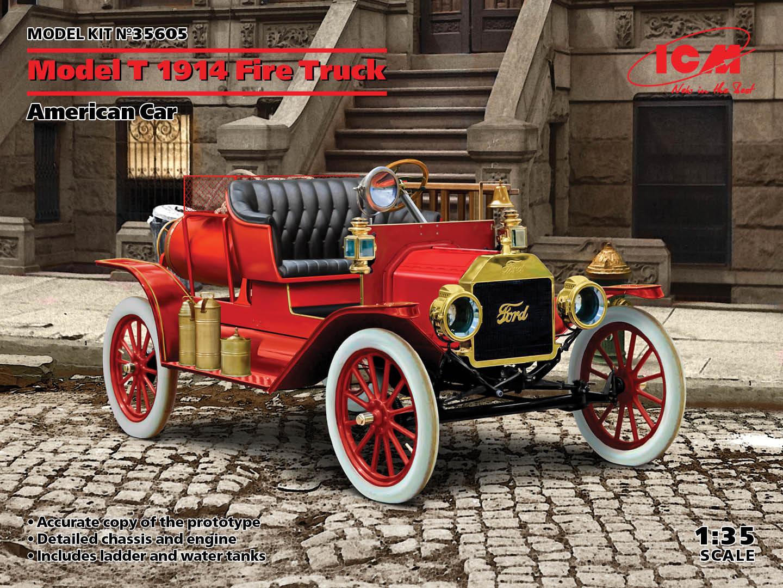 ICM 1/35 Model T 1914 Fire Truck, American Car