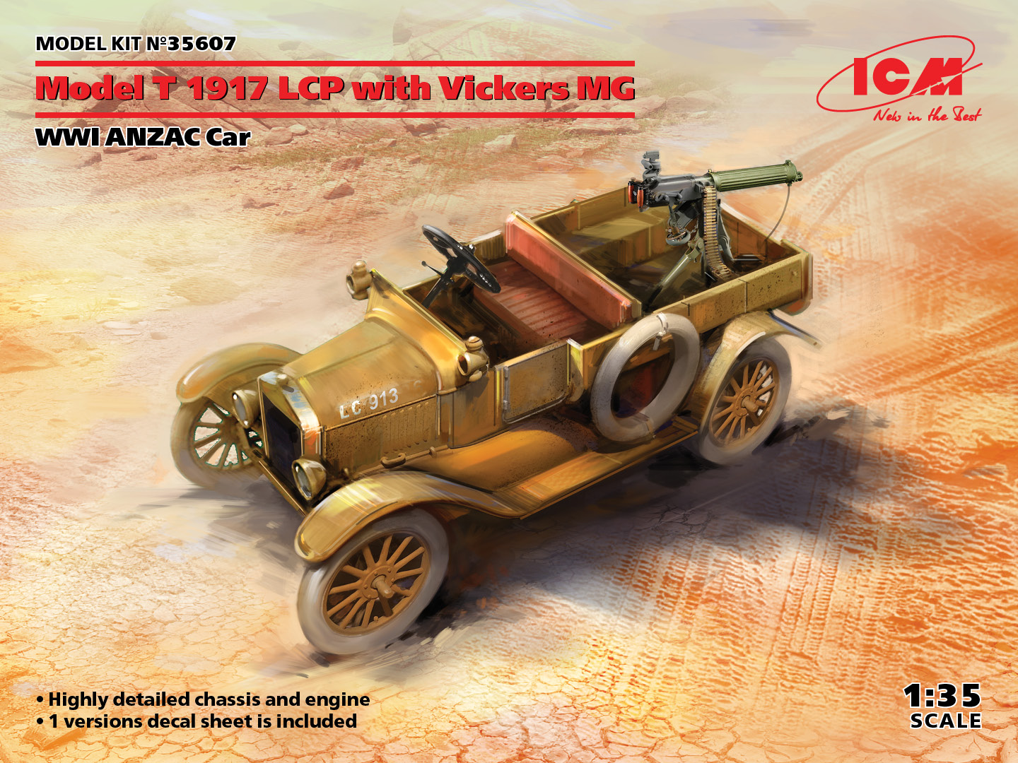 ICM 1/35 Model T 1917 LCP with Vickers MG - WWI ANZAC Car