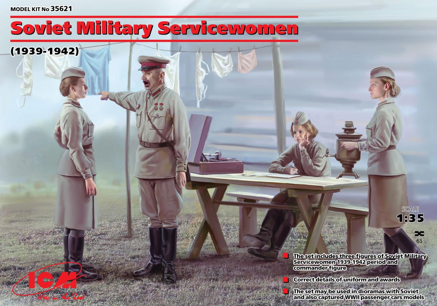ICM Soviet Military Servicewomen (1939-1942) (4 figures)
