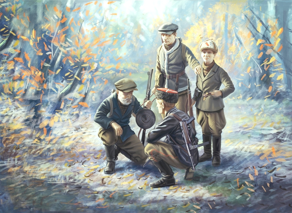 ICM WWII Soviet Partisans (4 figures)