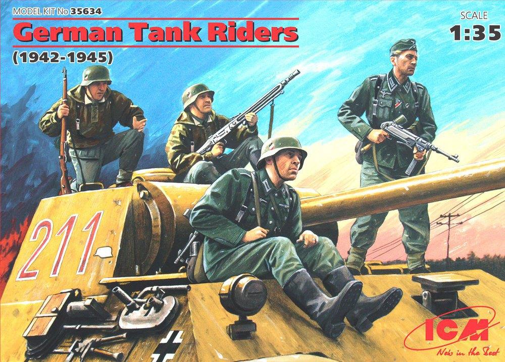 ICM German Tank Riders (1942-1945),  (4 figures)