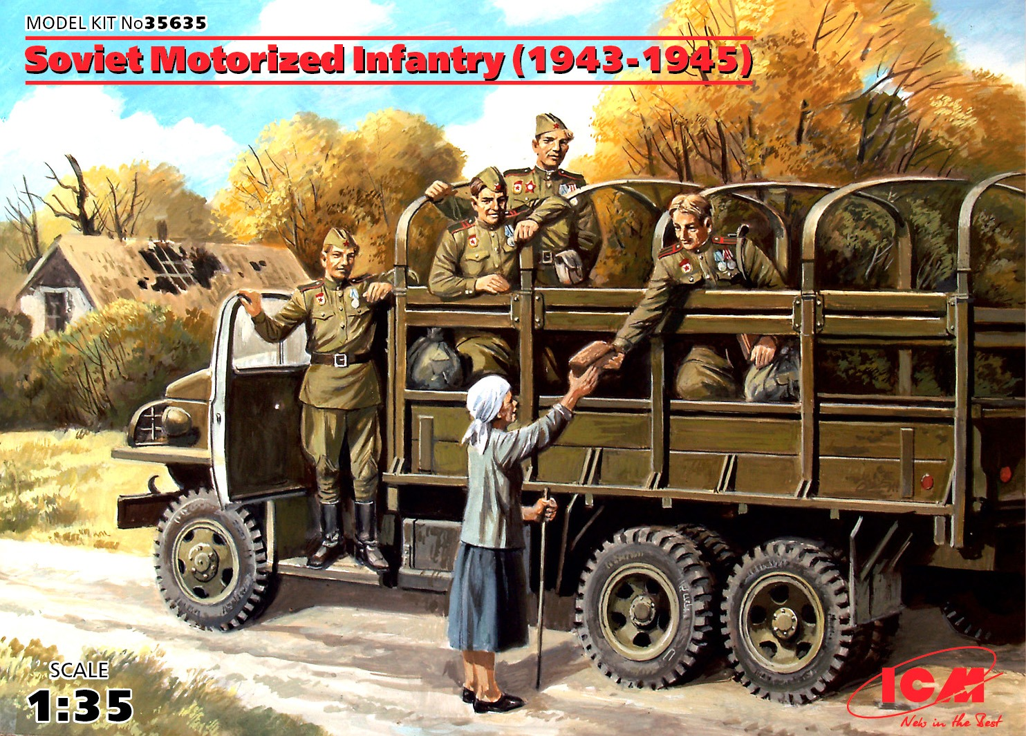 ICM Soviet Motorized Infantry (1943-1945), (5 figures)