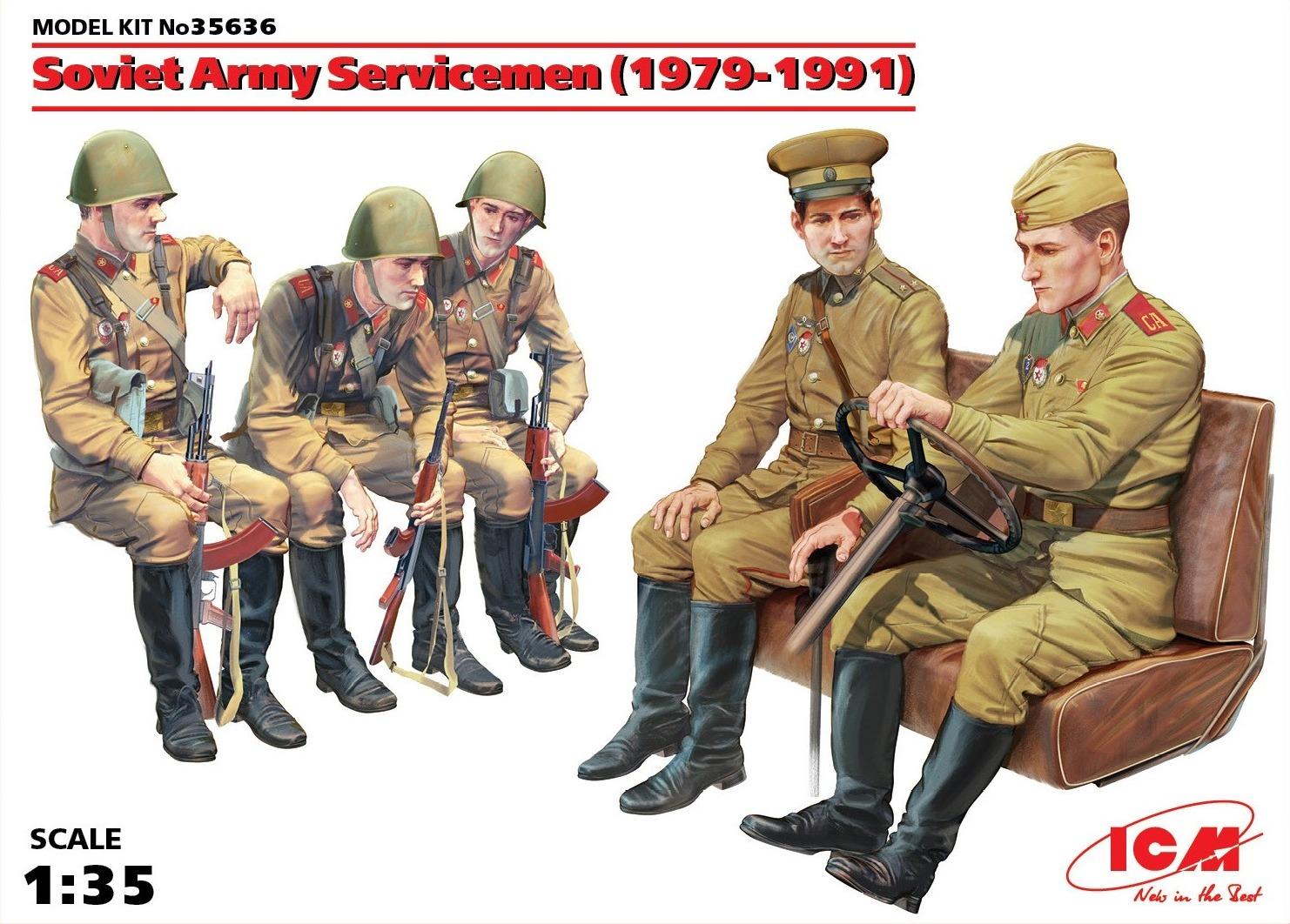ICM Soviet Army Servicemen (1979-1991), (5 figures)