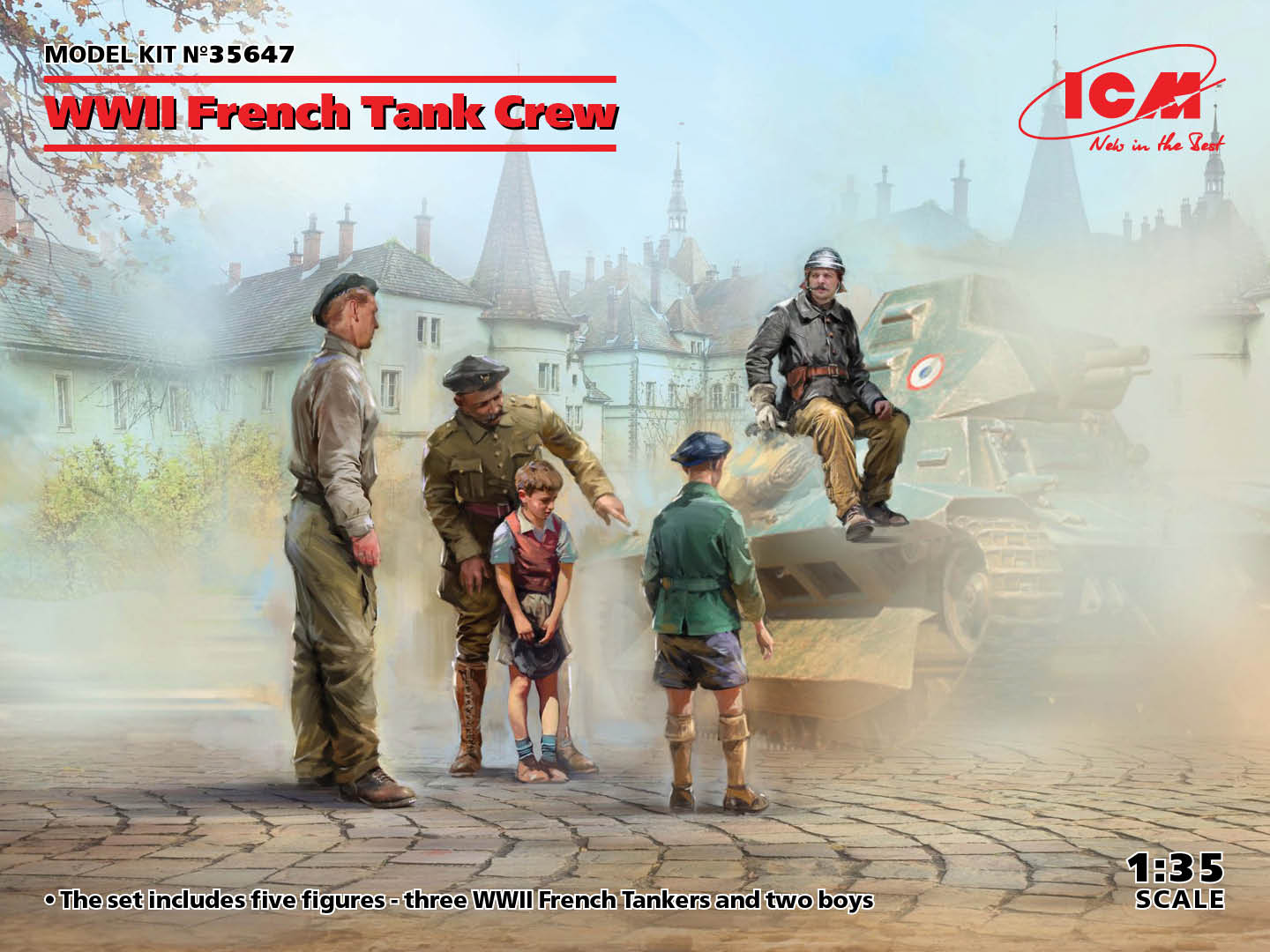 WWII French Tank Crew (4 figures) (100% new molds)