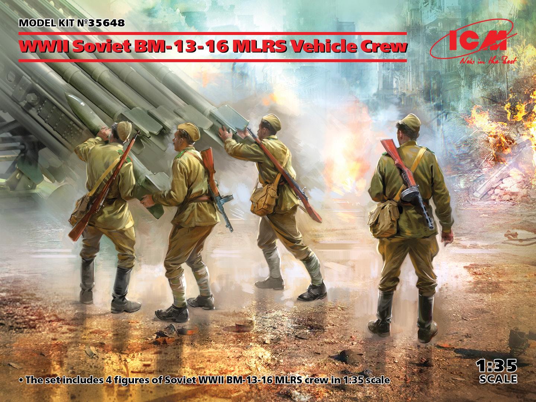 ICM 1/35 WWII Soviet BM-13-16 MLRS Vehicle Crew