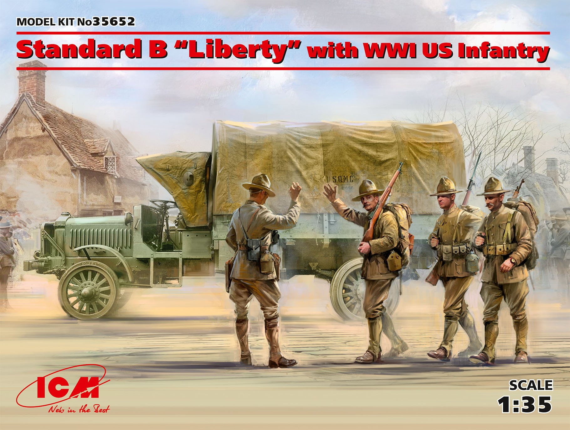 "ICM Standard B ""Liberty"" with WWI US Infantry"