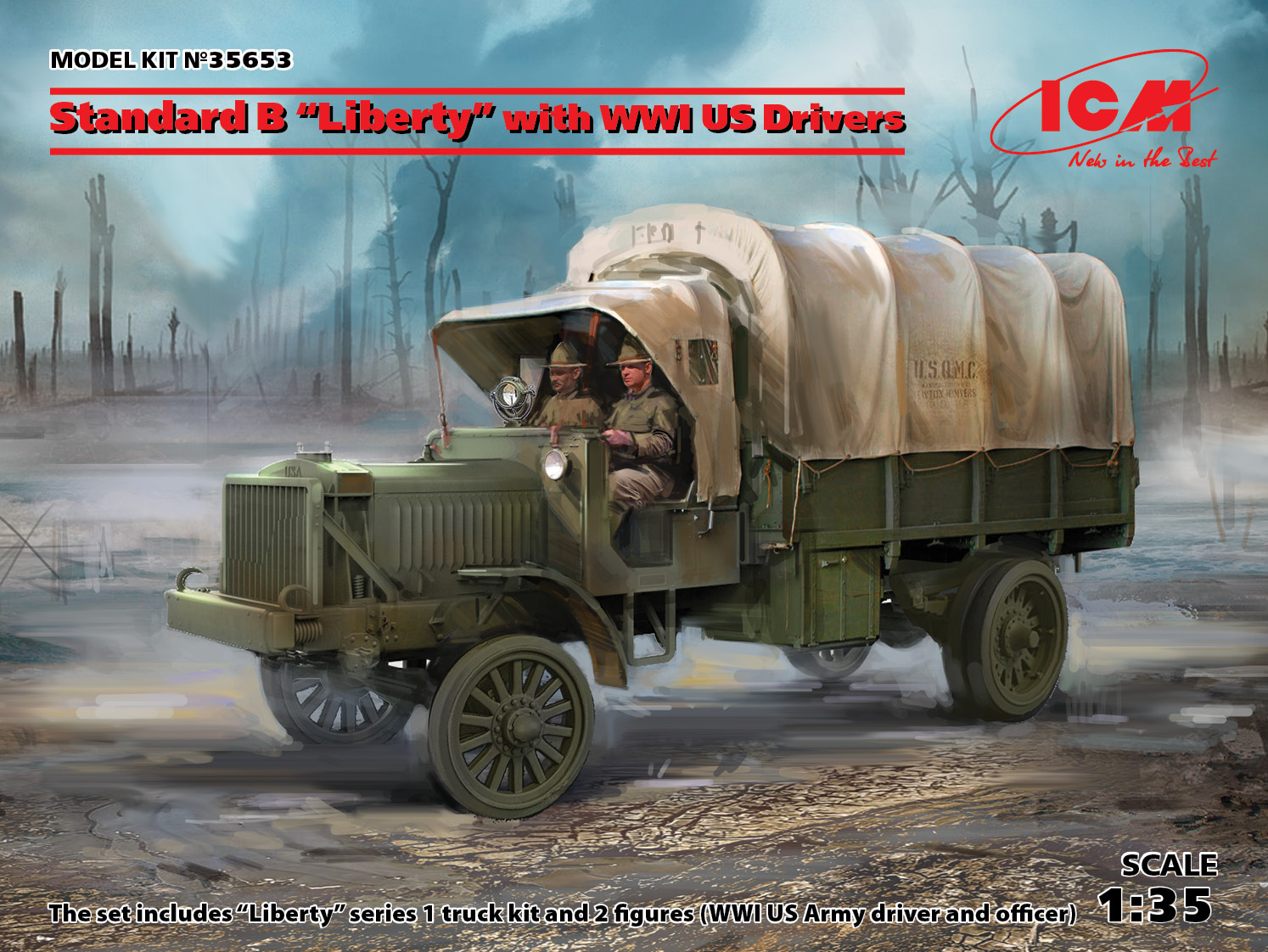 "ICM Standard B ""Liberty"" with WWI US Drivers"