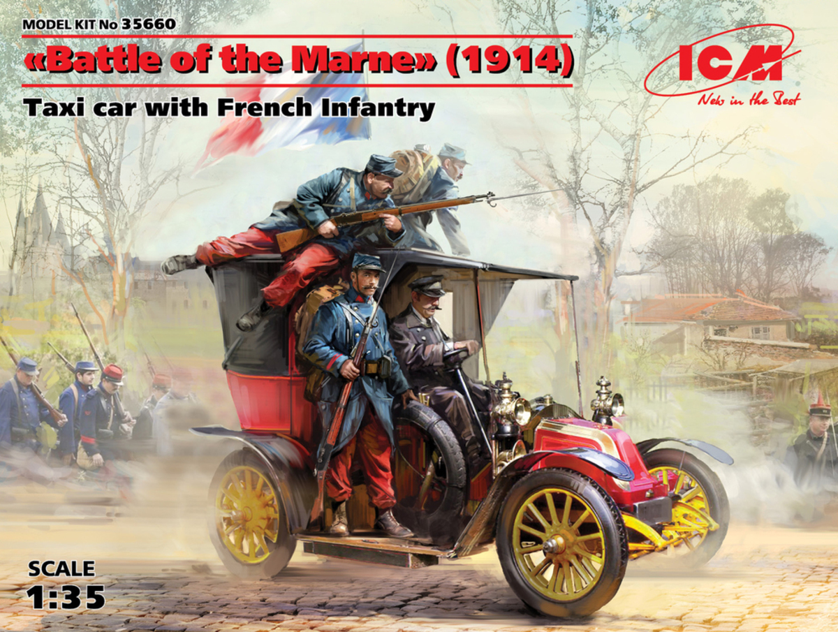 "ICM Battle of the Marne"" (1914), Taxi car with French Infantry"