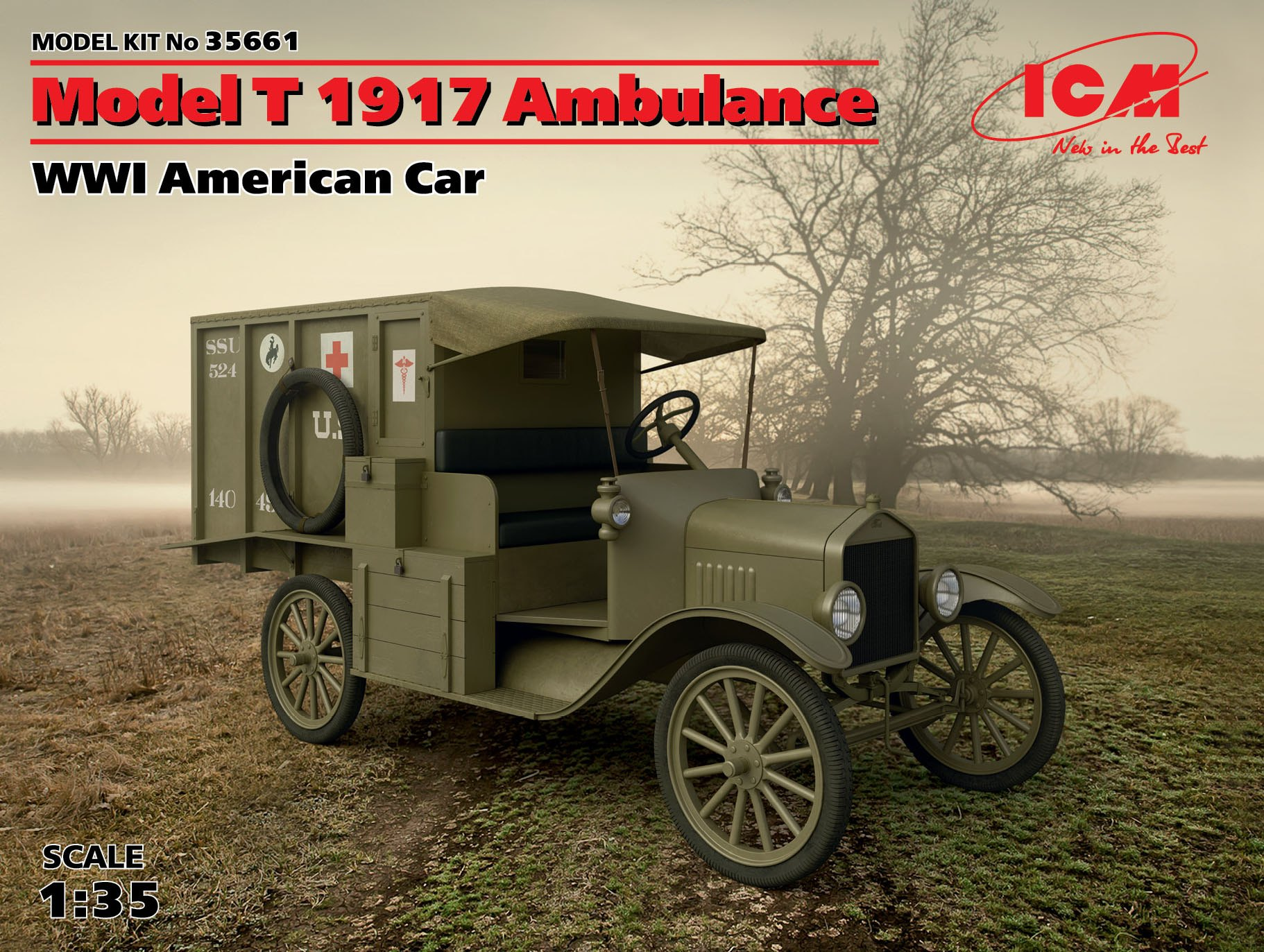 ICM Model T 1917 Ambulance, WWI American Car