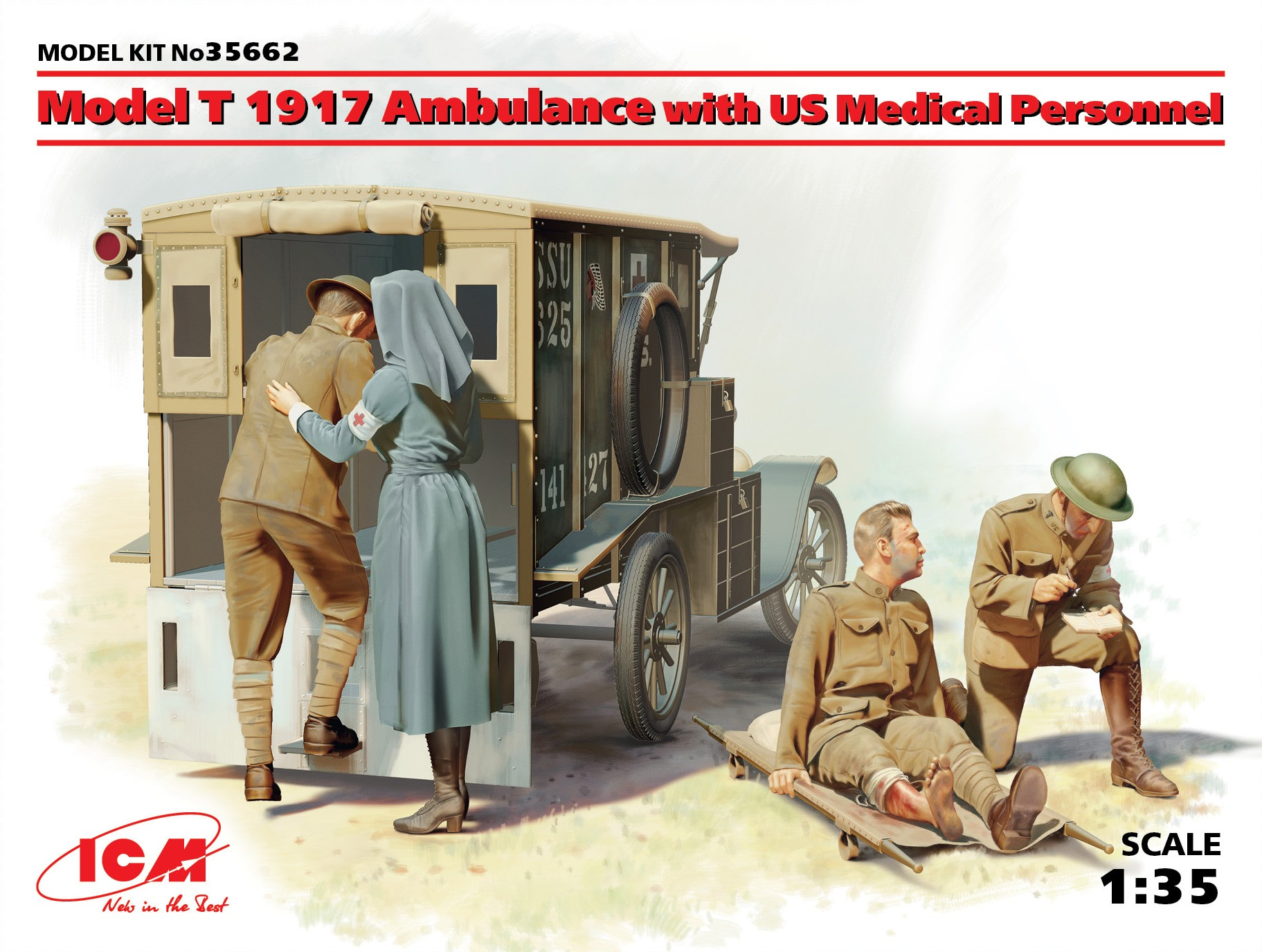 ICM Model T 1917 Ambulance with US Medical Personnel
