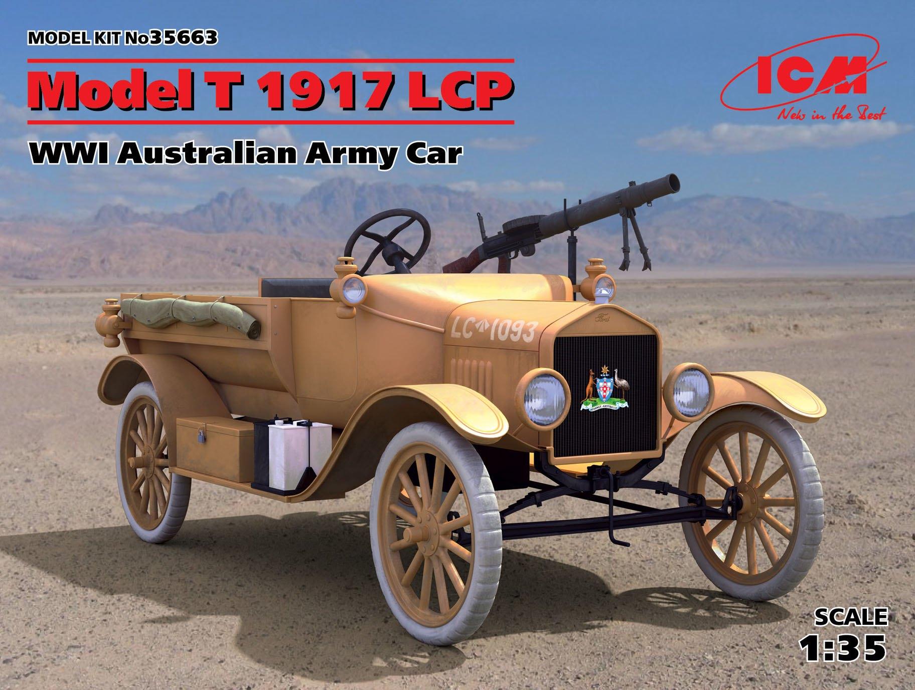ICM Model T 1917 LCP, WWI Australian Army Car