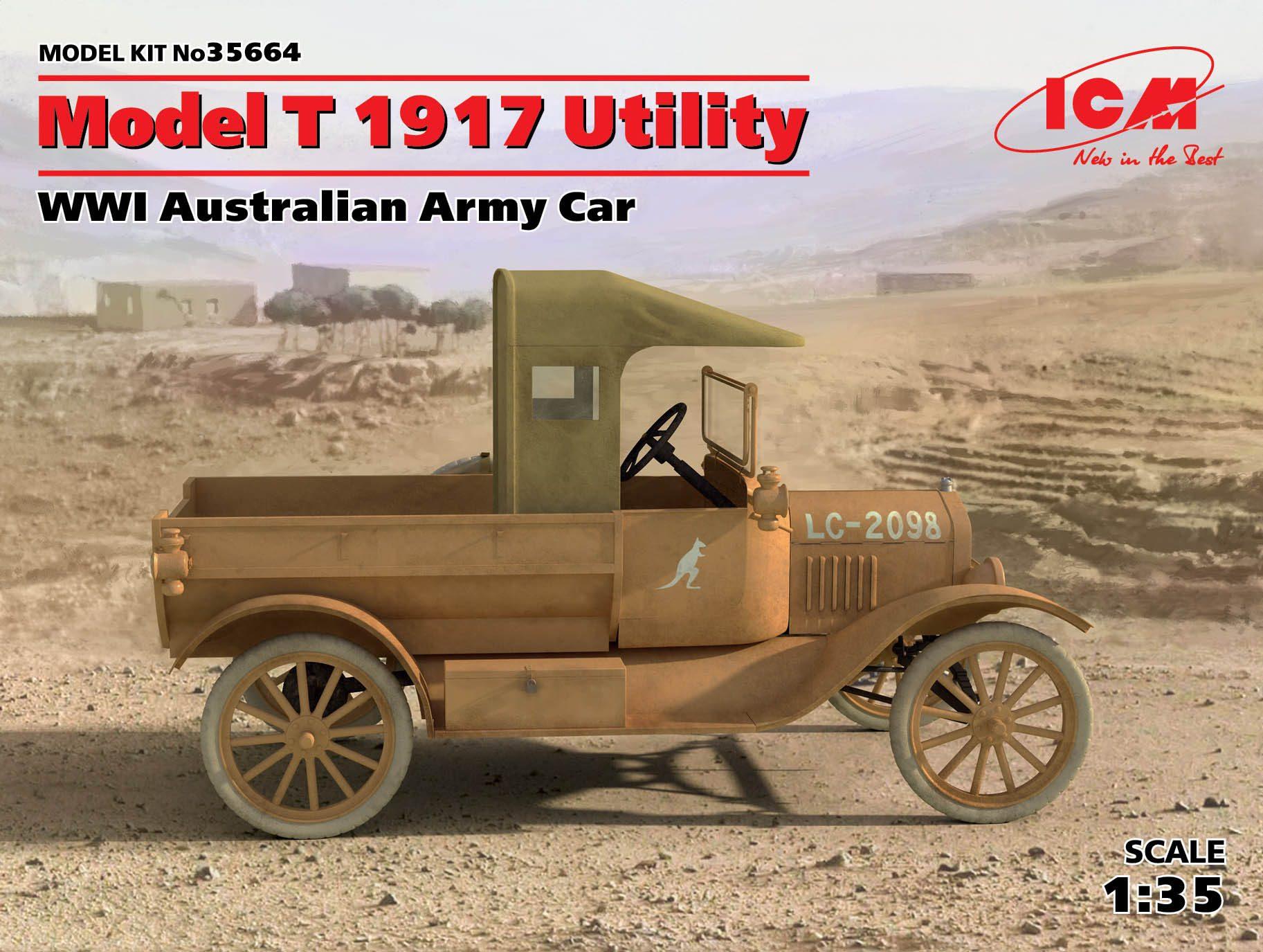 ICM Model T 1917 Utility, WWI Australian Army Car