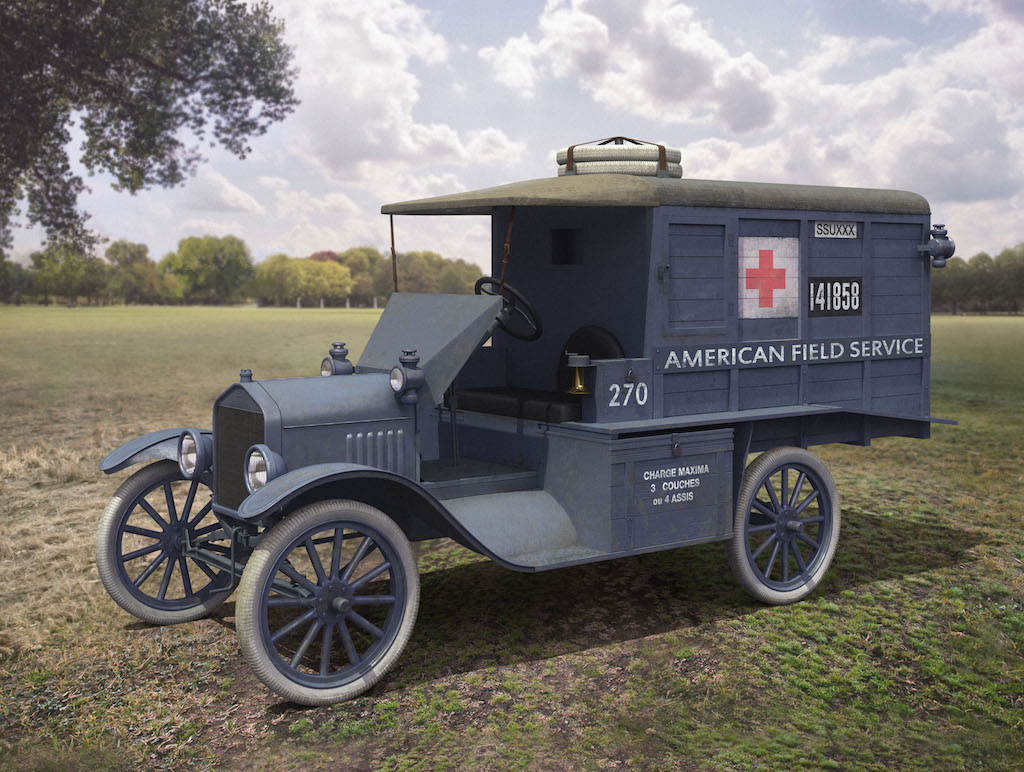 ICM Model T 1917 Ambulance (early), WWI AAFS Car