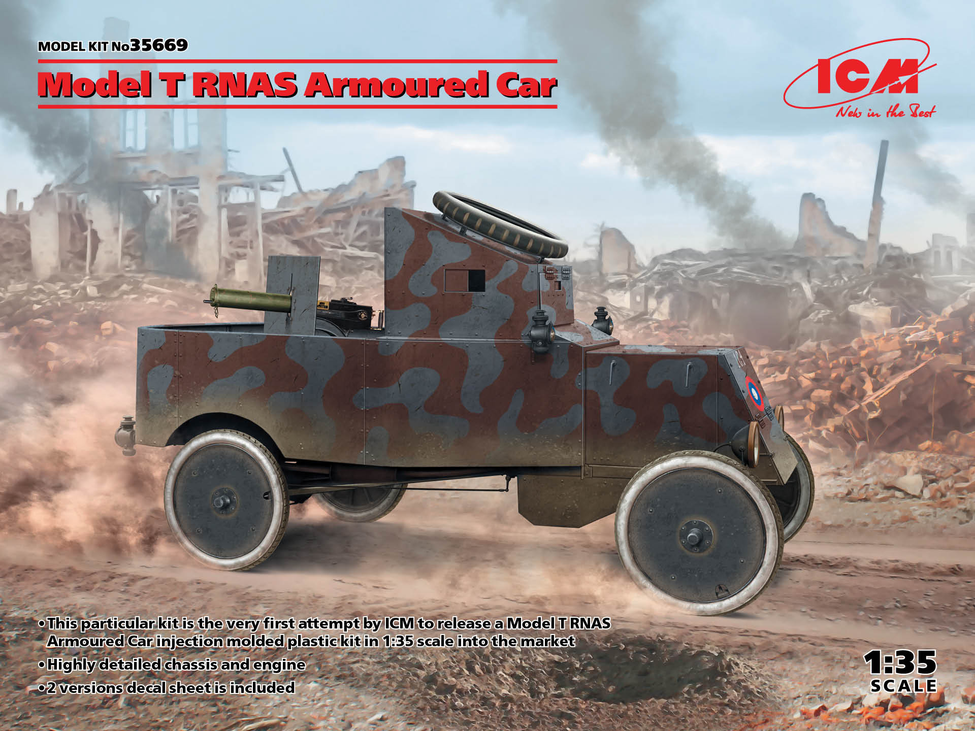 ICM Model T RNAS Armoured Car (100% new molds)