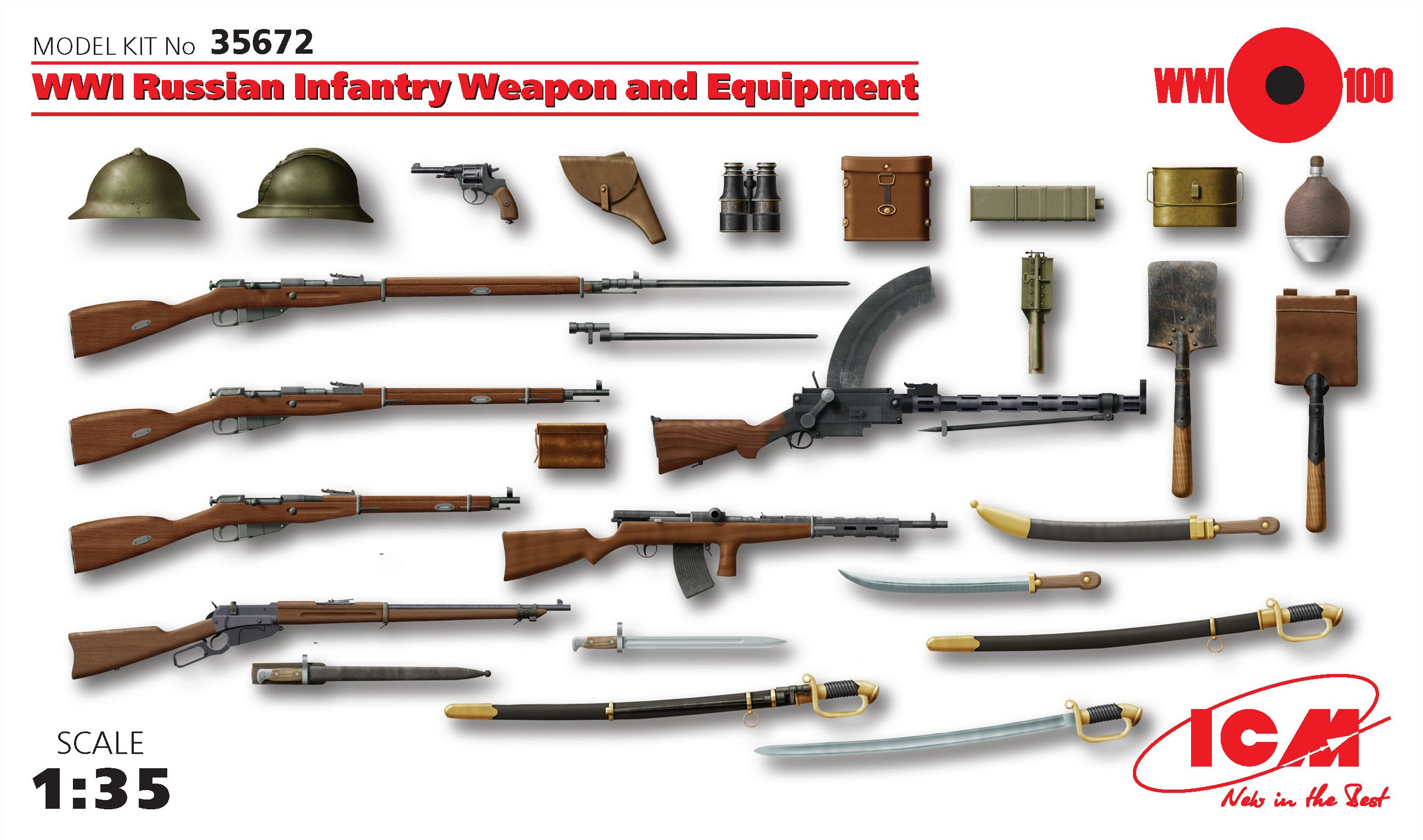 ICM WWI Russian Infantry Weapon and Equipment