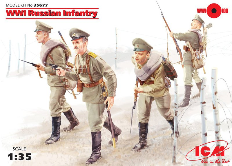 ICM WWI Russian Infantry (4 figures)