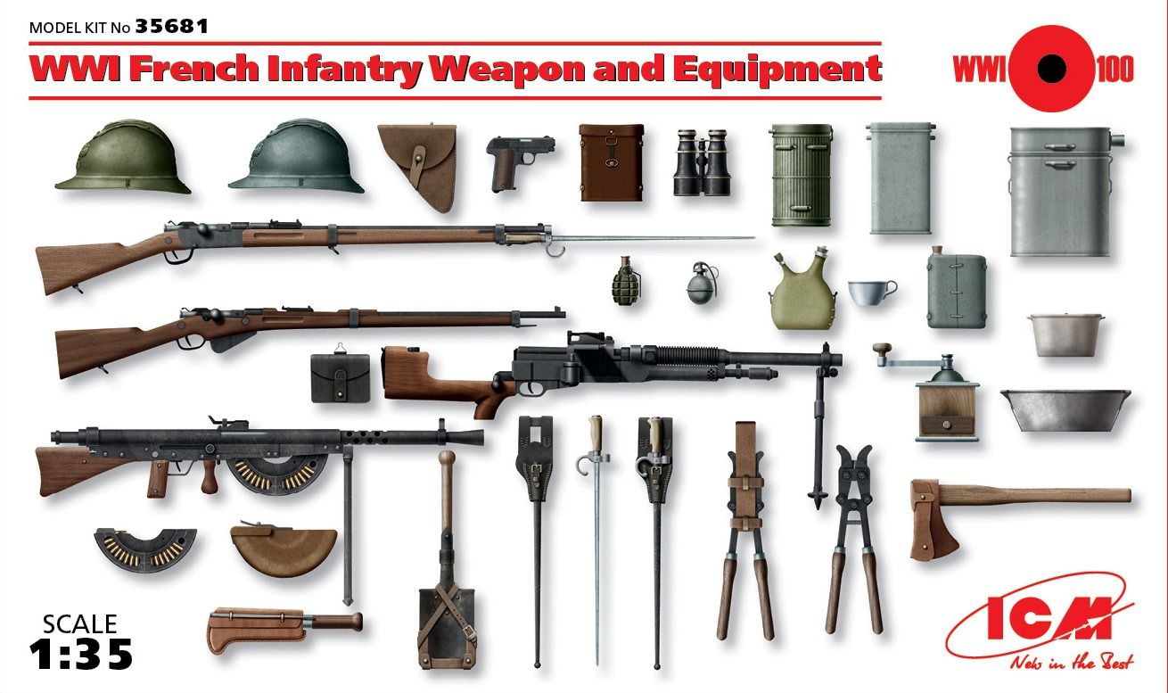 ICM WWI French Infantry Weapon and Equipment