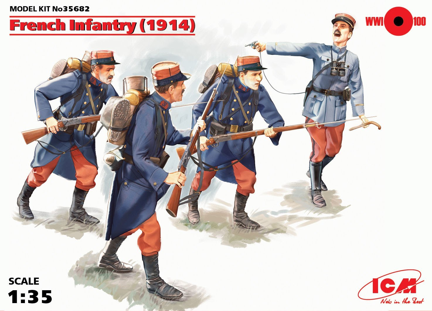 ICM French Infantry (1914) (4 figures)