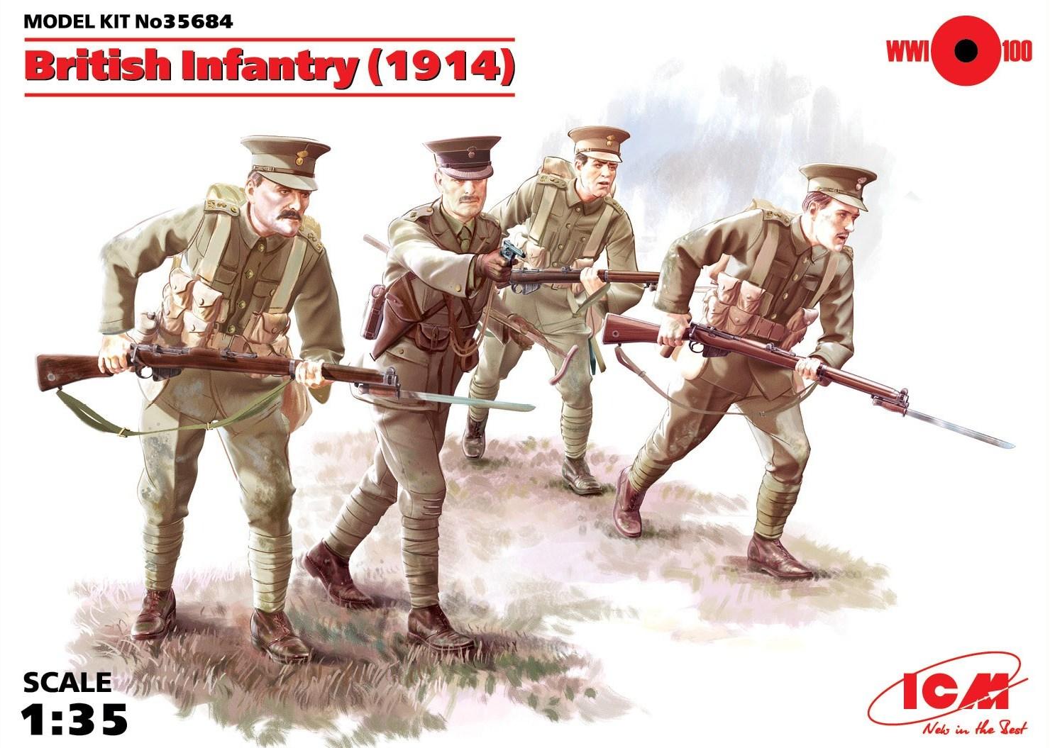ICM British Infantry (1914) (4 figures)