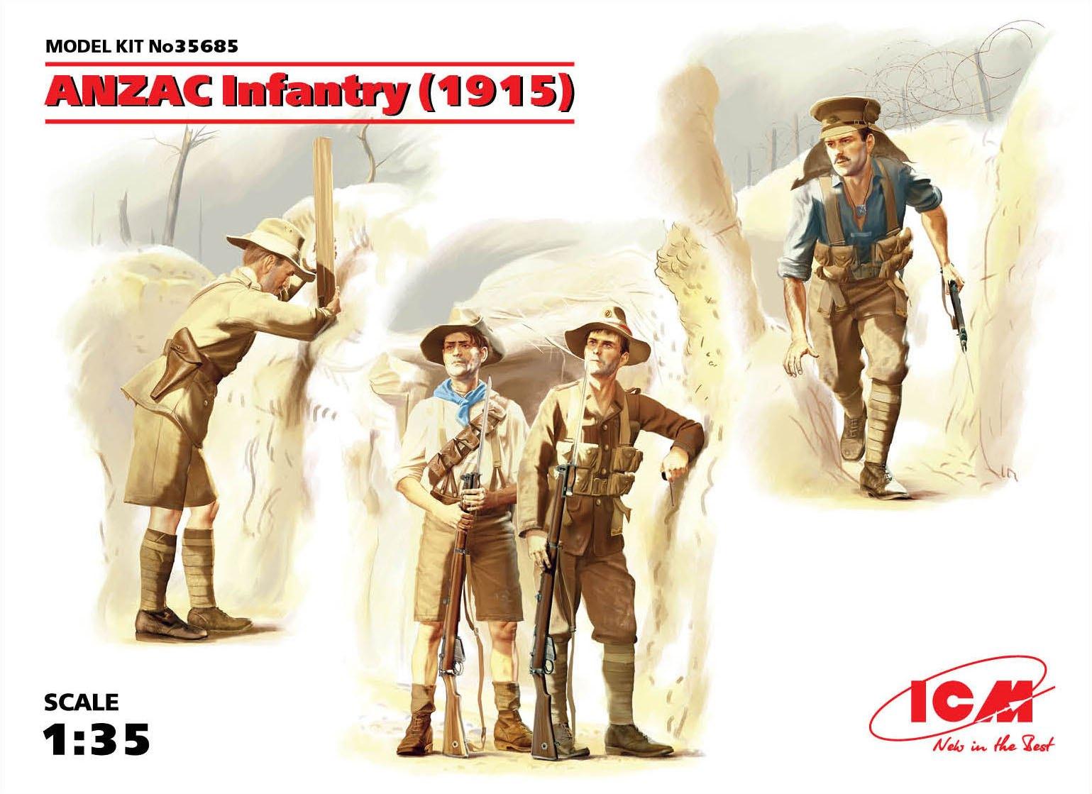 ICM ANZAC Infantry (1915) (4 figures)