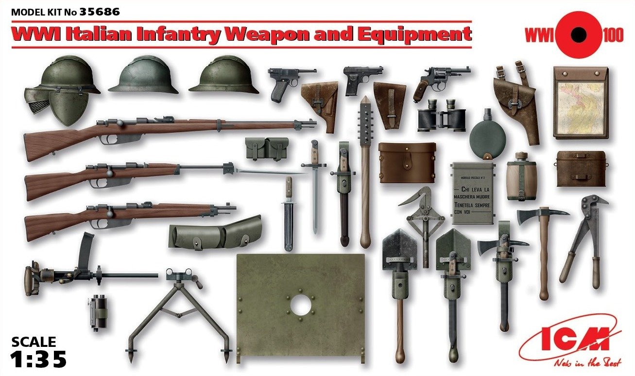 ICM WWI Italian Infantry Weapon and Equipment