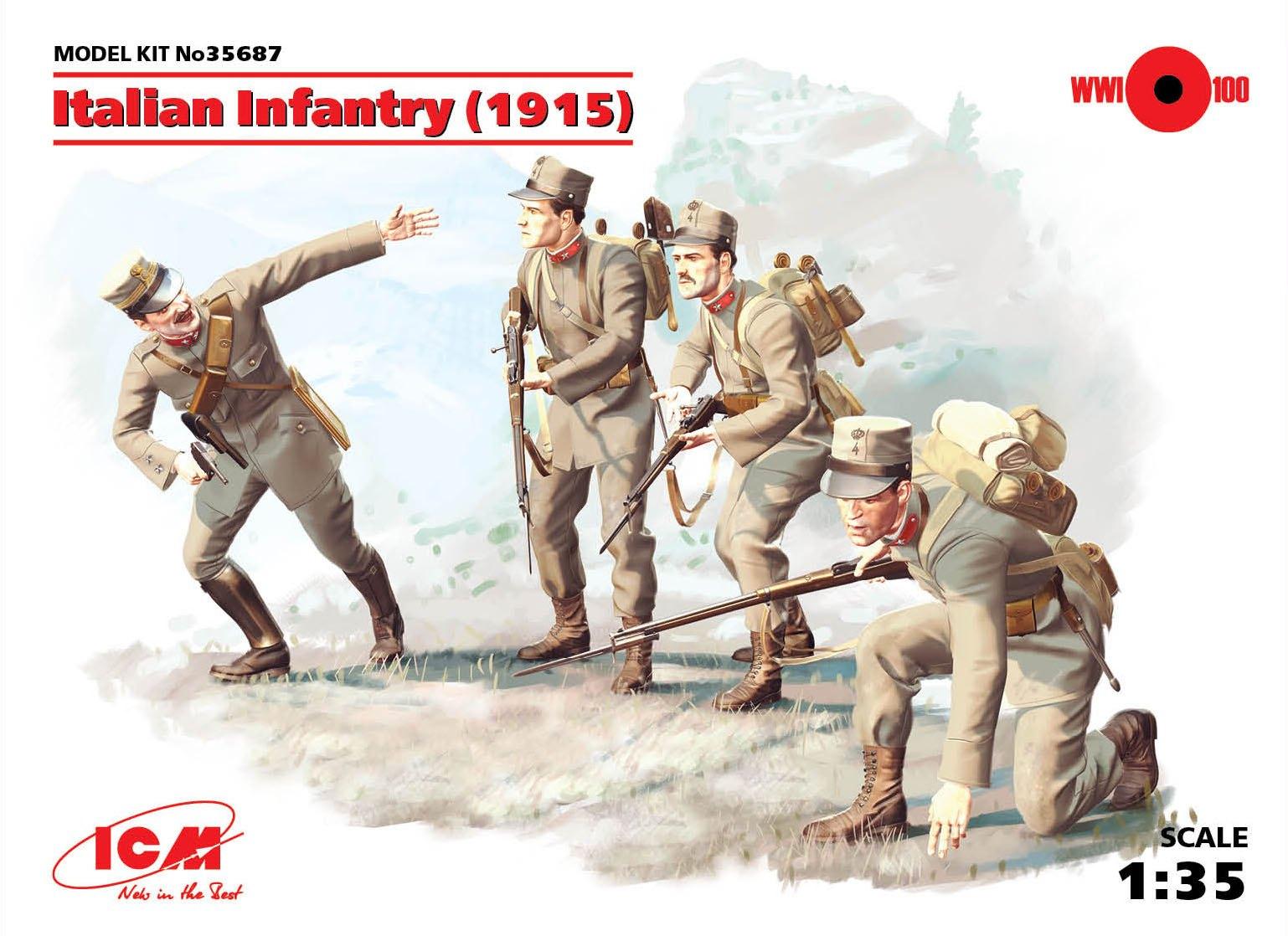 ICM Italian Infantry (1915) (4 figures)