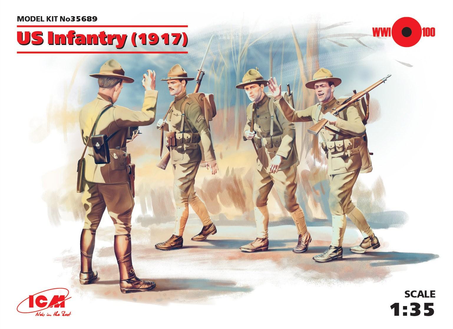 ICM US Infantry (1917) (4 figures)