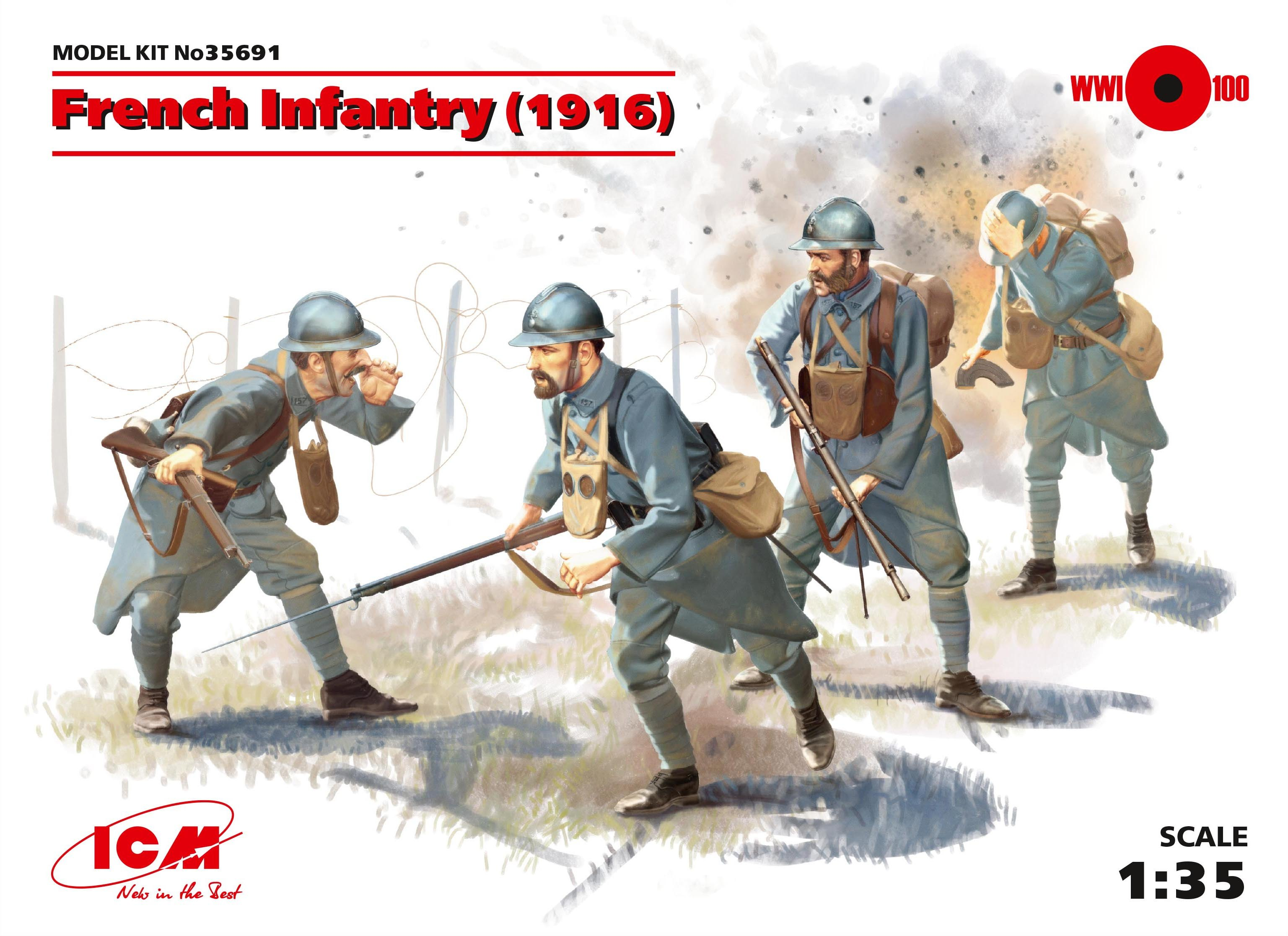ICM 1/35 French Infantry (1916) (4 figures)