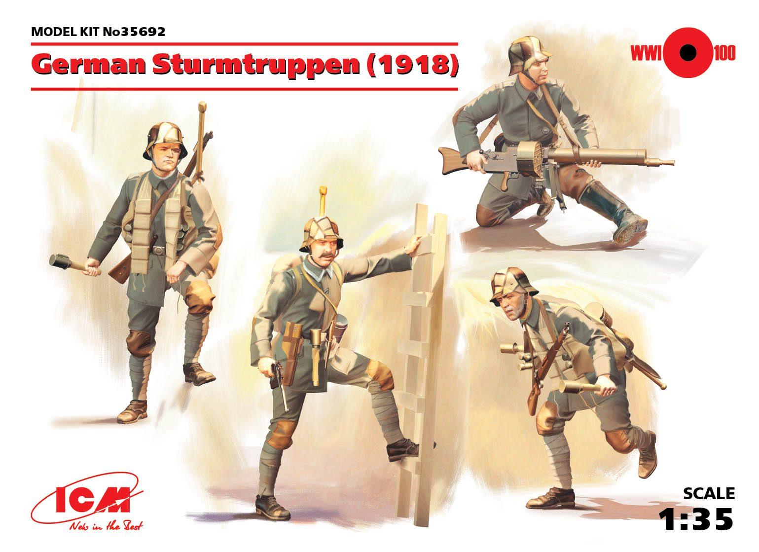 ICM German Sturmtruppen (1918) (4 figures)