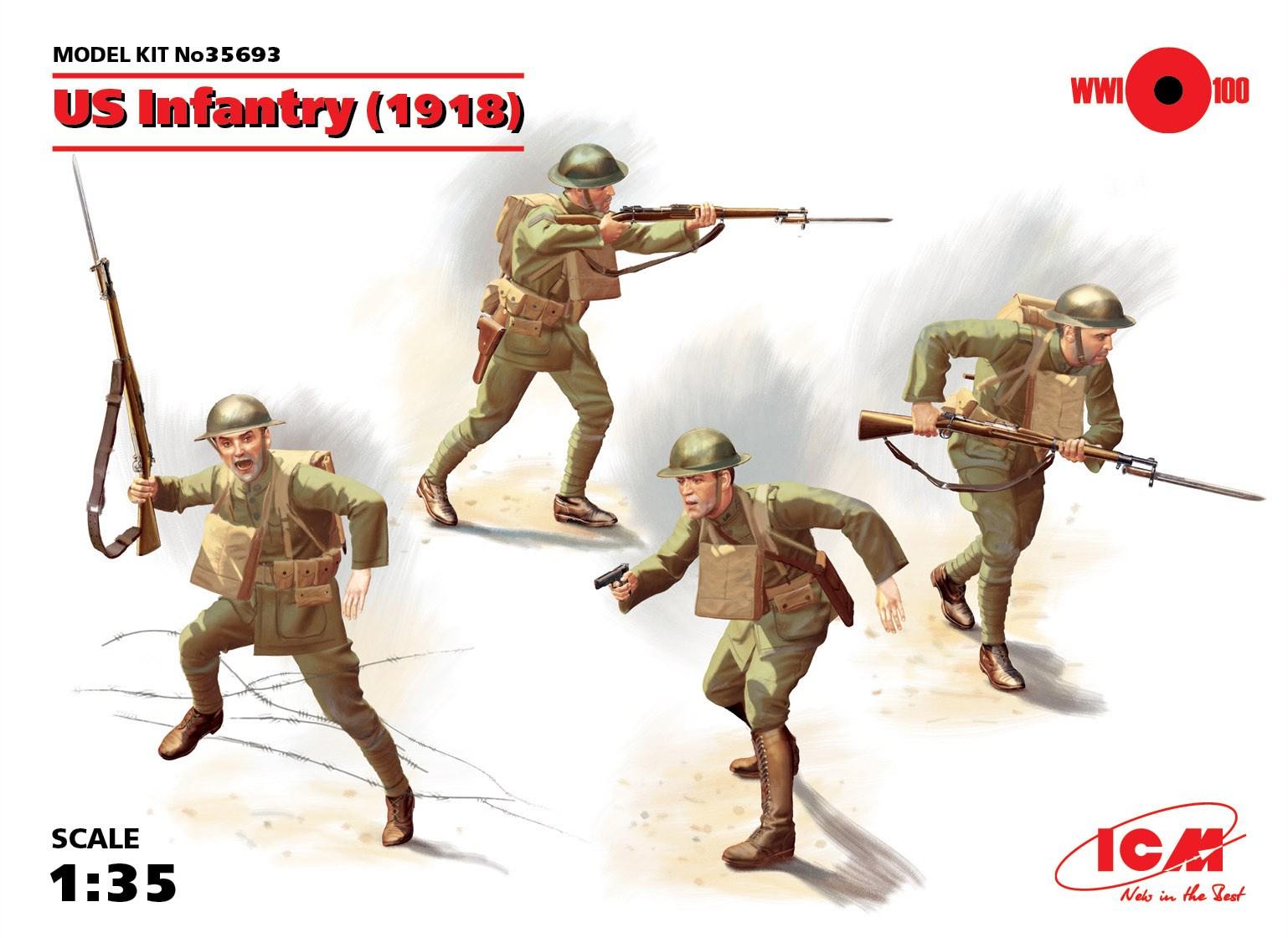 ICM US Infantry (1918) (4 figures)