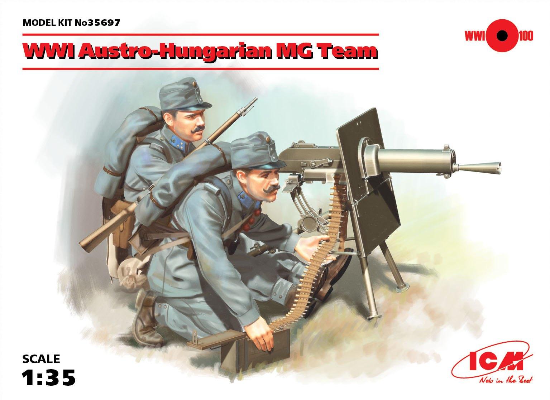 ICM WWI Austro-Hungarian MG Team (2 figures)