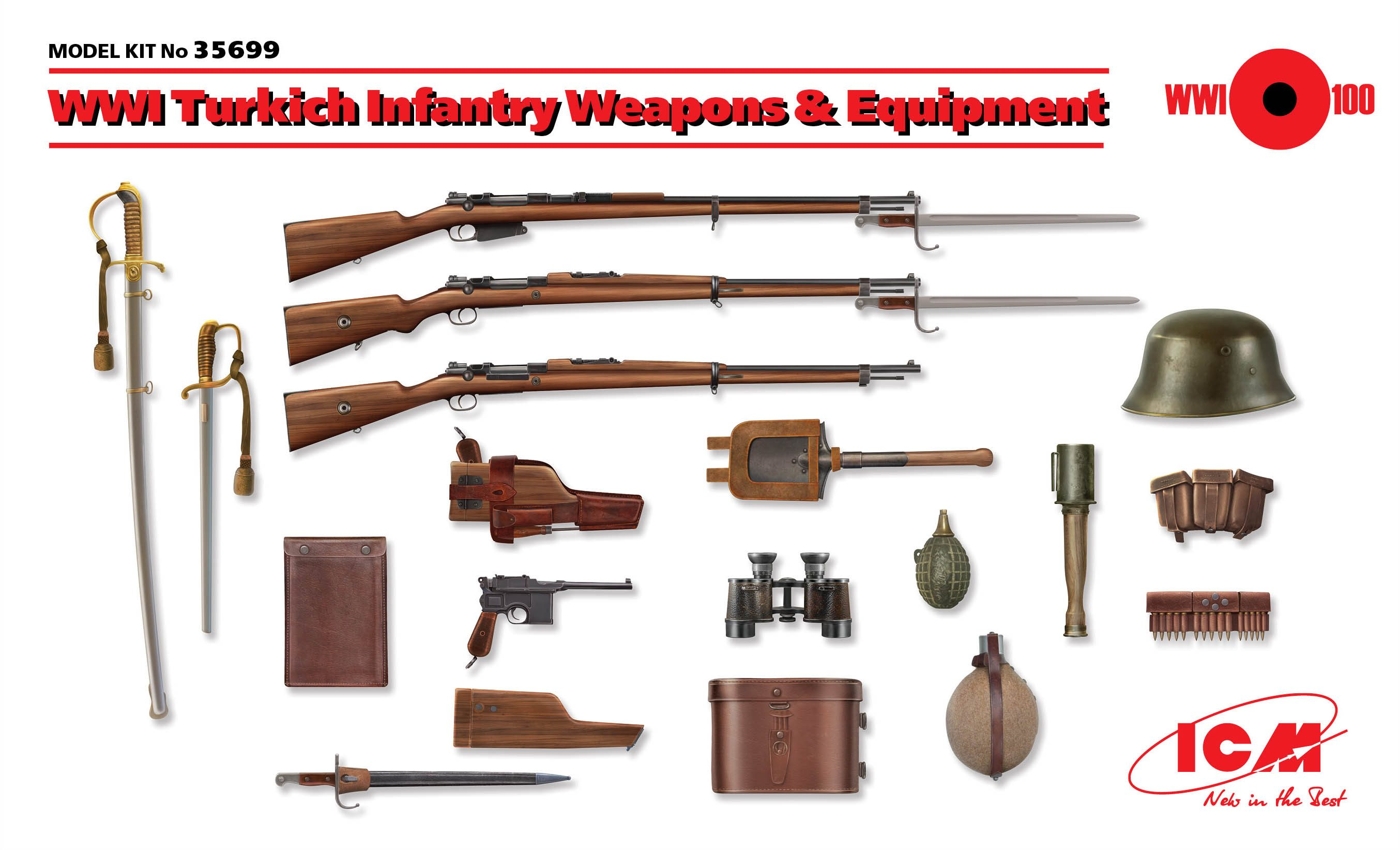 ICM WWI Turkish Infantry Weapons & Equipment