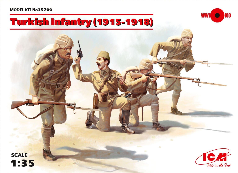 ICM Turkish Infantry (1915-1918) (4 figures)