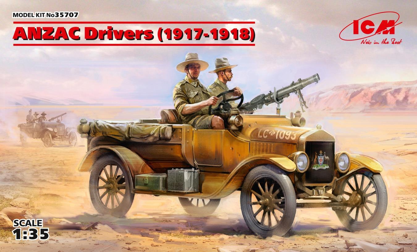 ICM ANZAC Drivers (1917-1918) (2 figures) (100% new molds)
