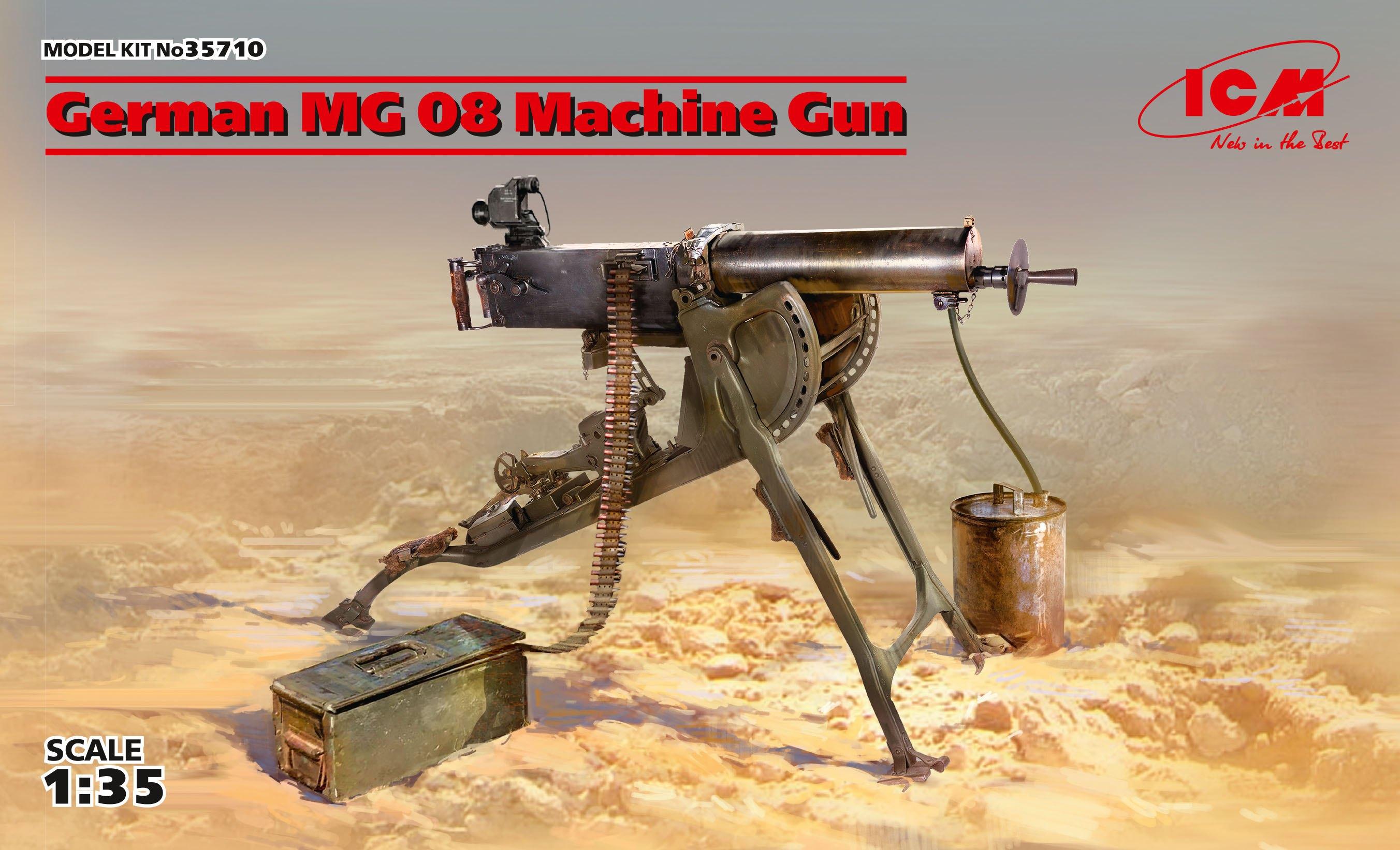 ICM German MG08 Machine Gun (100% new molds)