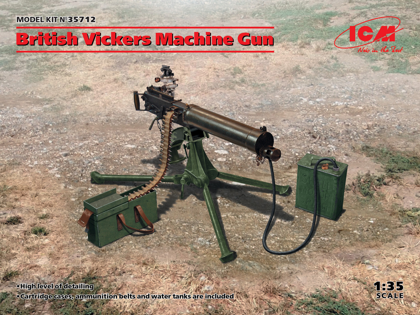 ICM British Vickers Machine Gun 1/35 Scale